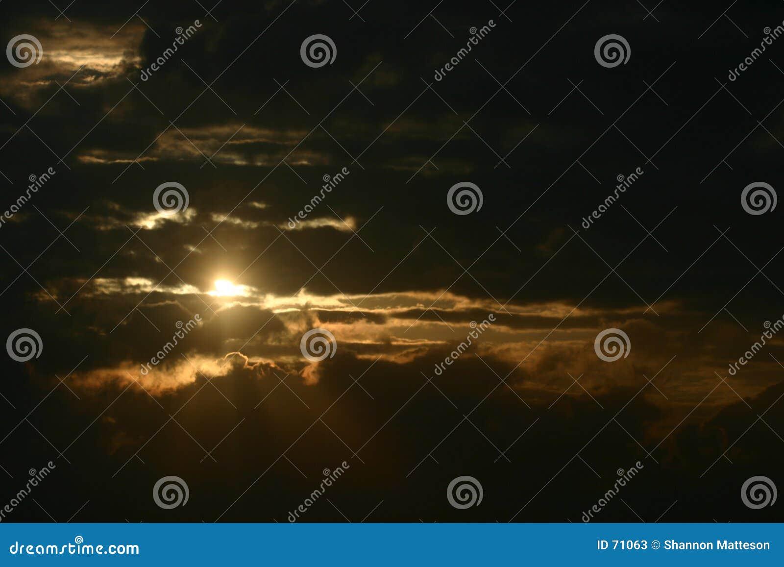 Por do sol dramático