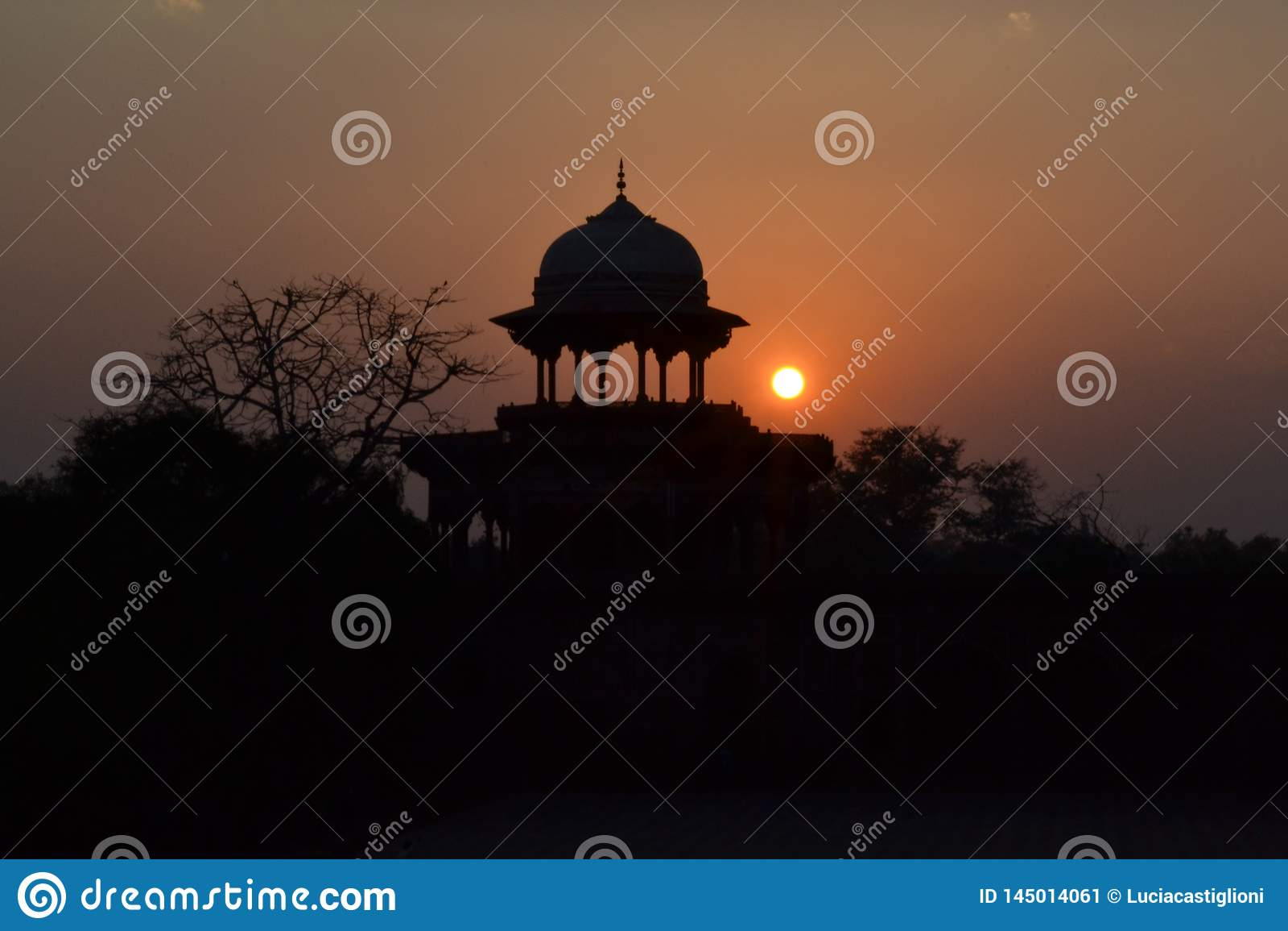 Por do sol em Agra