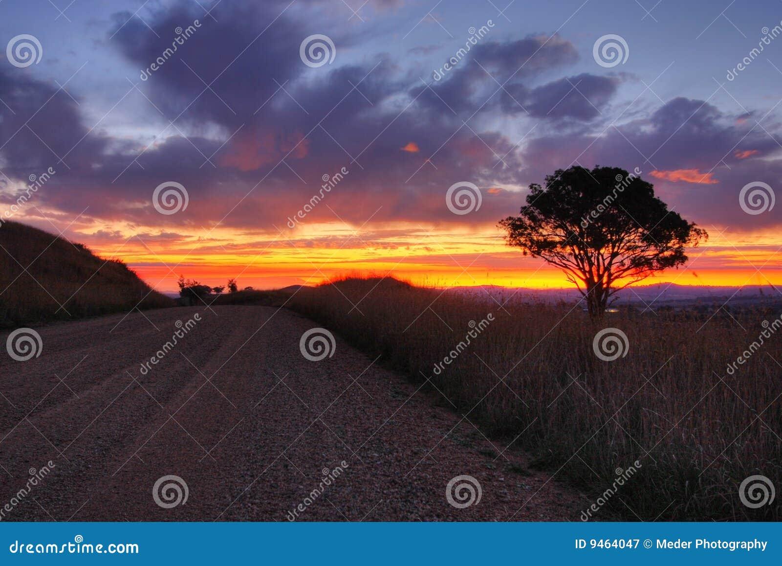 Por do sol em Cowra