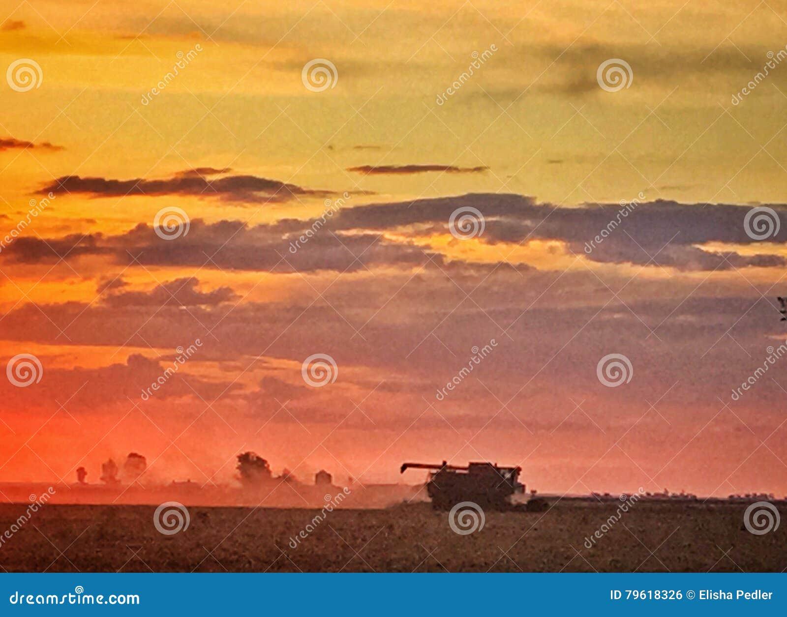 Por do sol em Jimbour Austrália