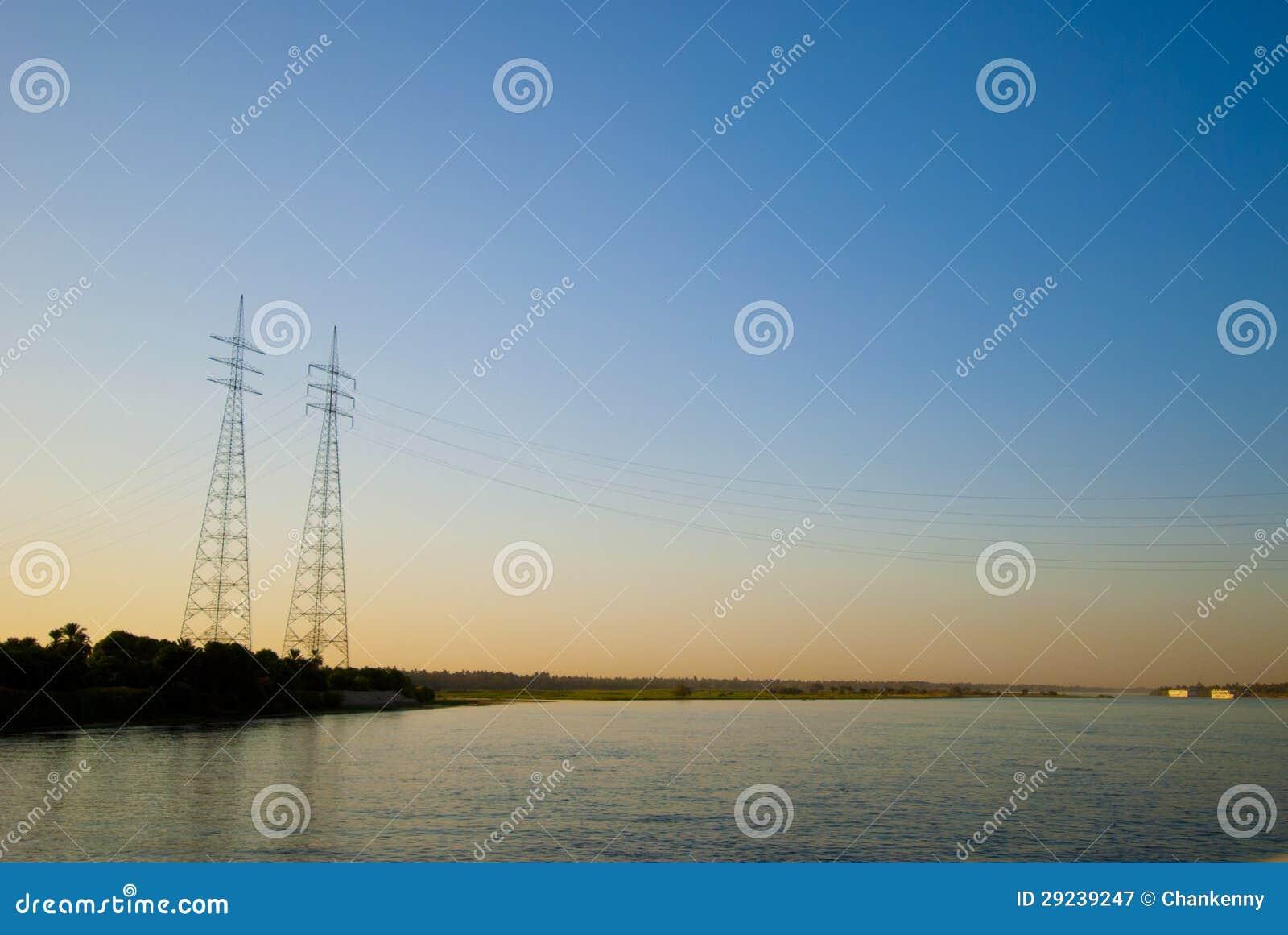 Download Por do sol em Nile imagem de stock. Imagem de tanzânia - 29239247