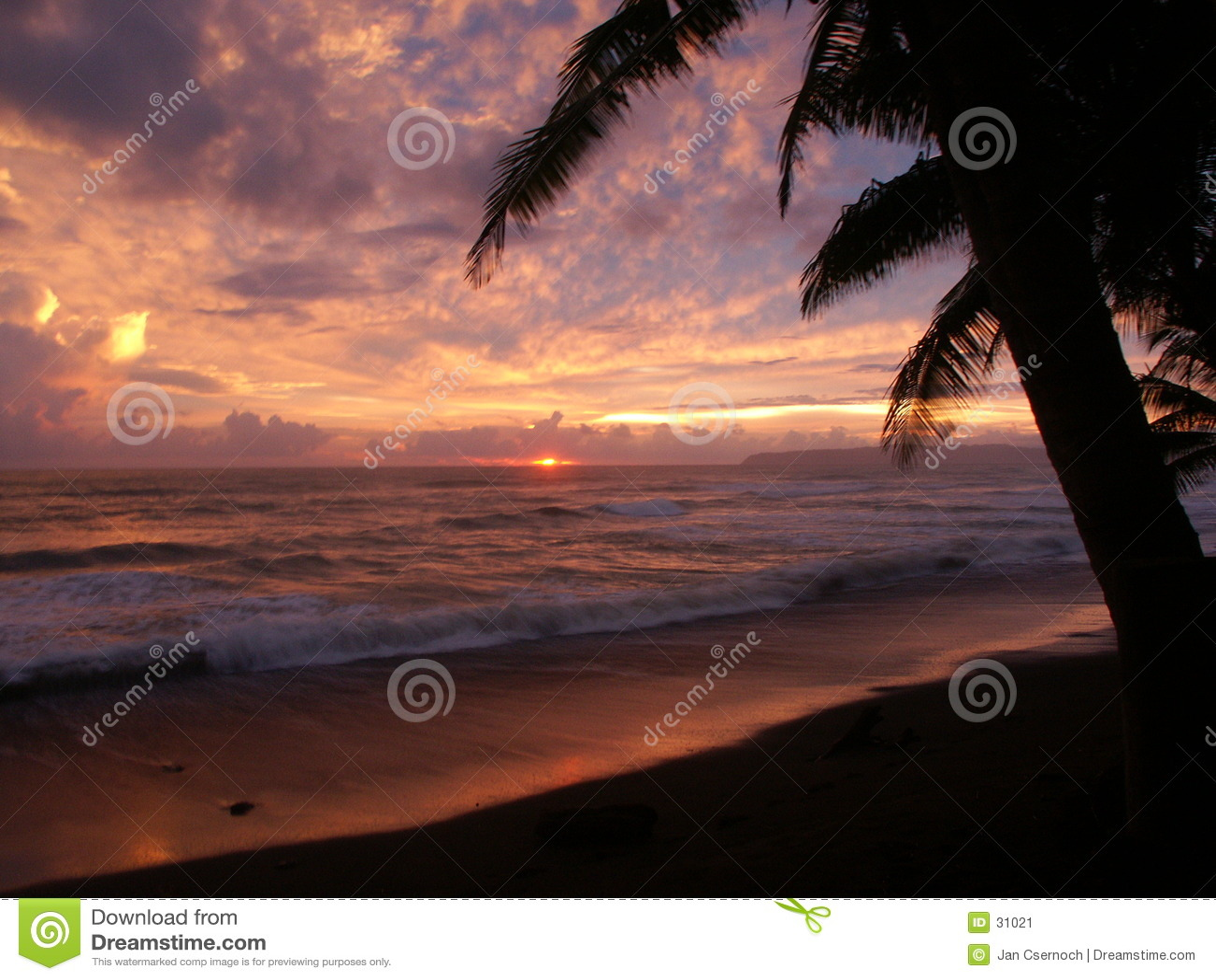 Por do sol em Punta banco