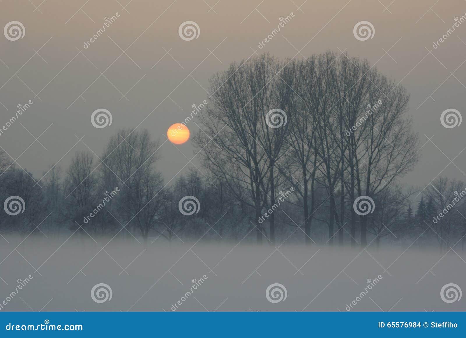 Por do sol gelado