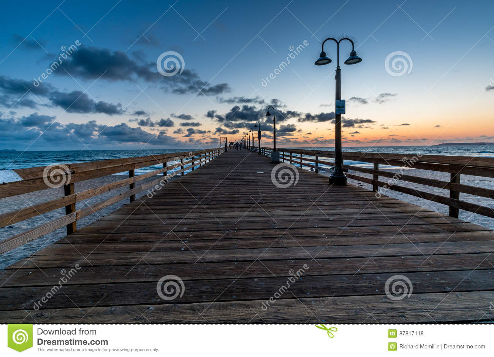 Por do sol na praia imperial, CA