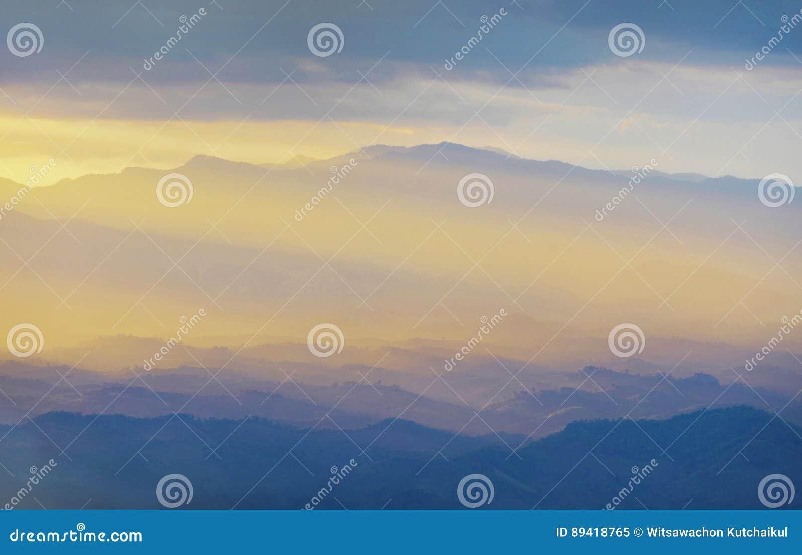 Por do sol nas montanhas