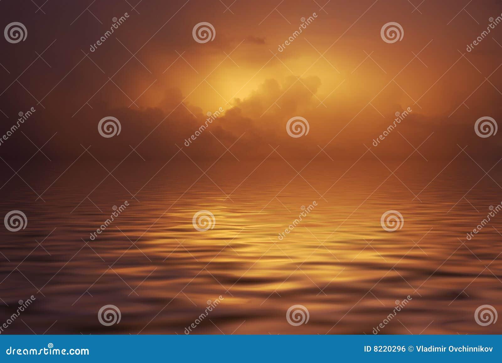 Por do sol nas nuvens