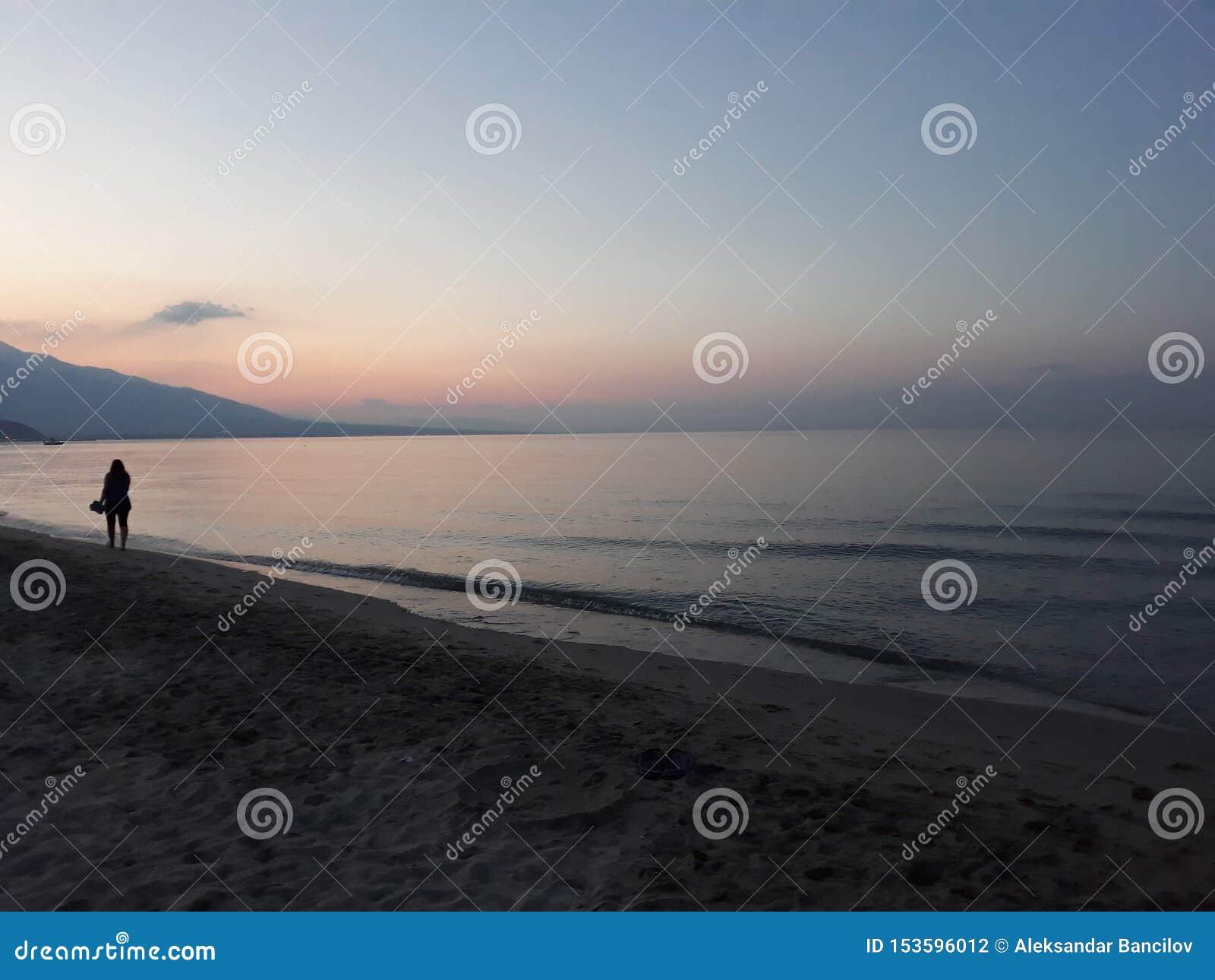 Por do sol no mar em Gr?cia