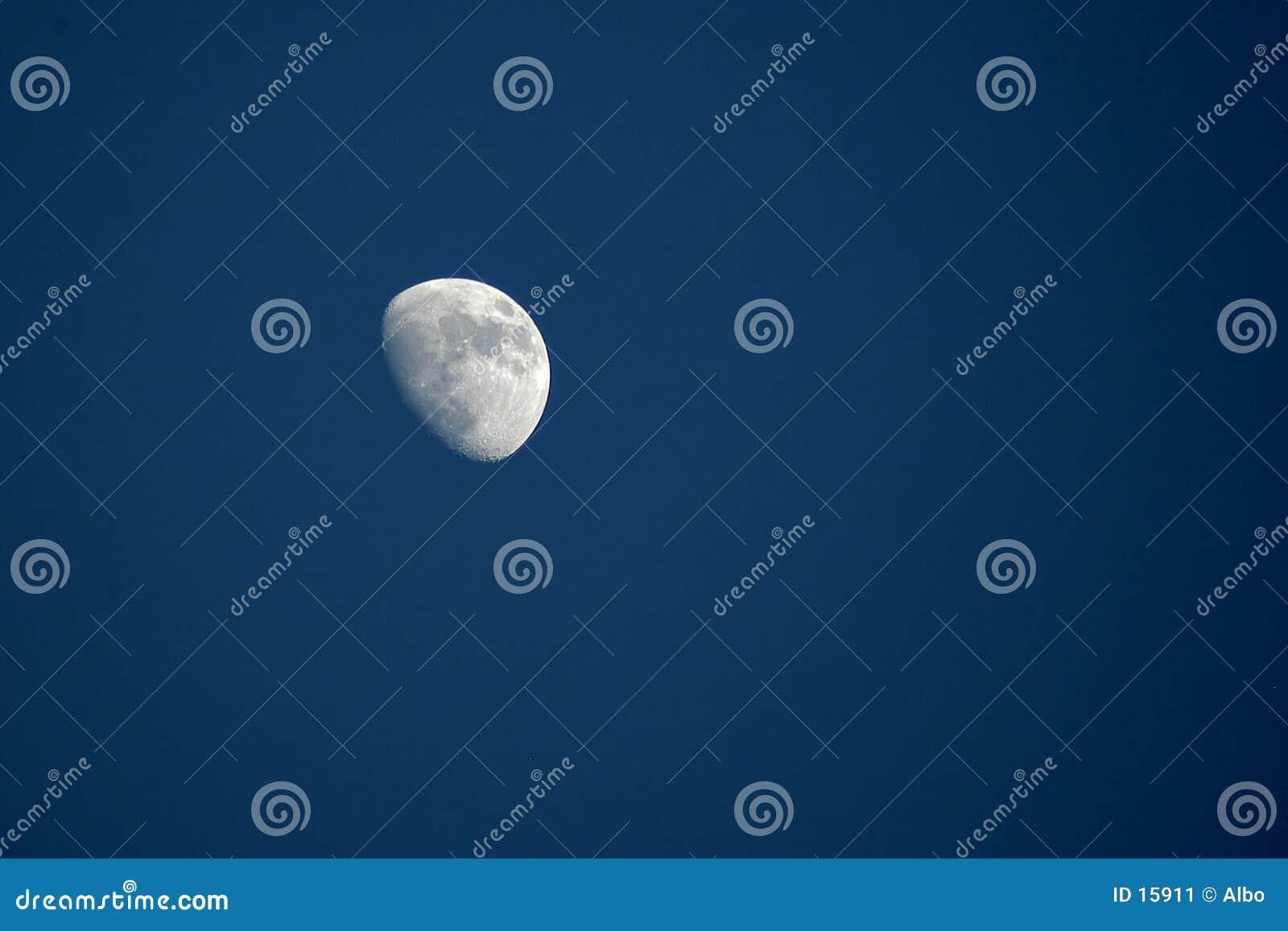Por la luna del día