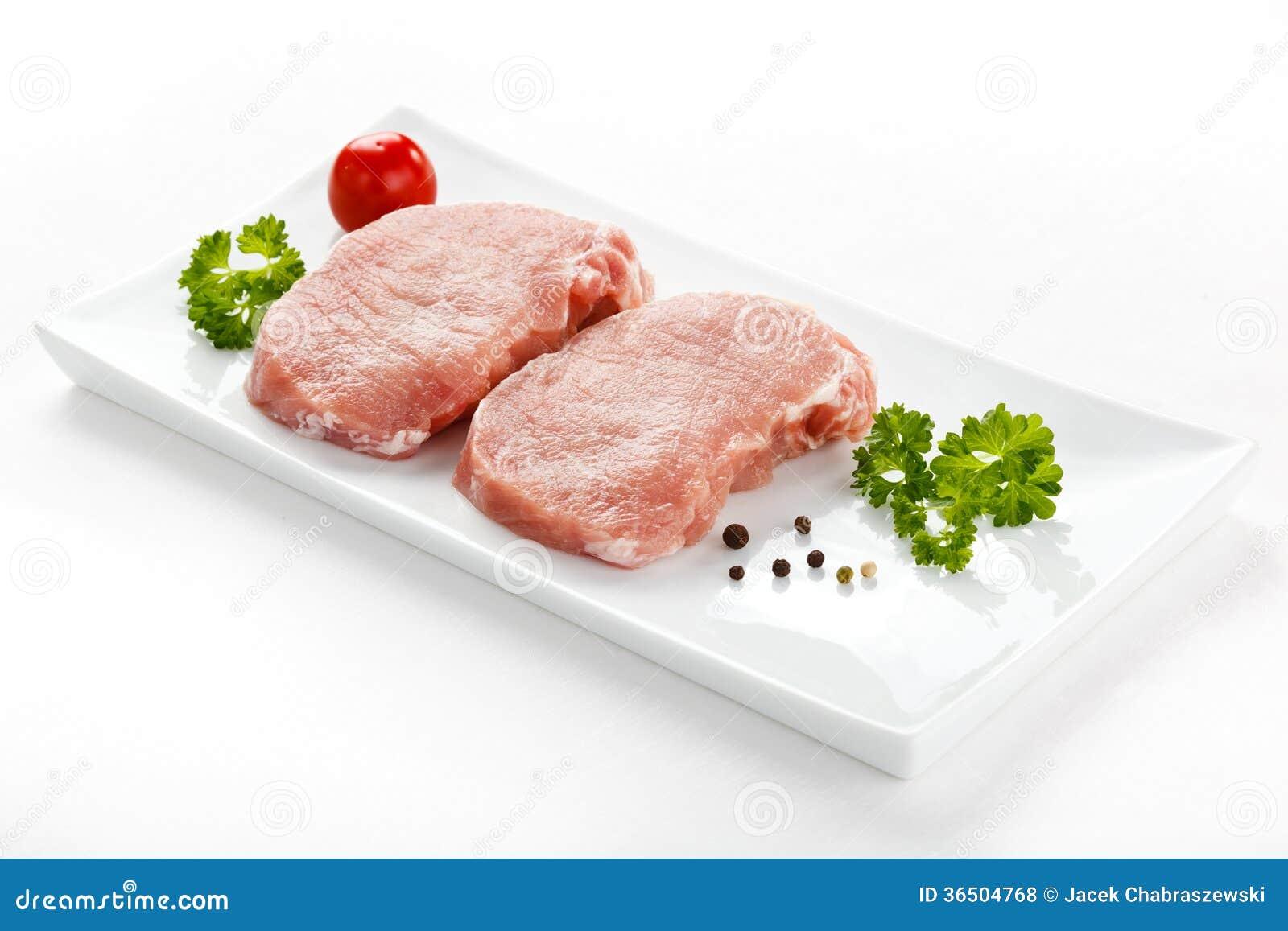Porc cru frais