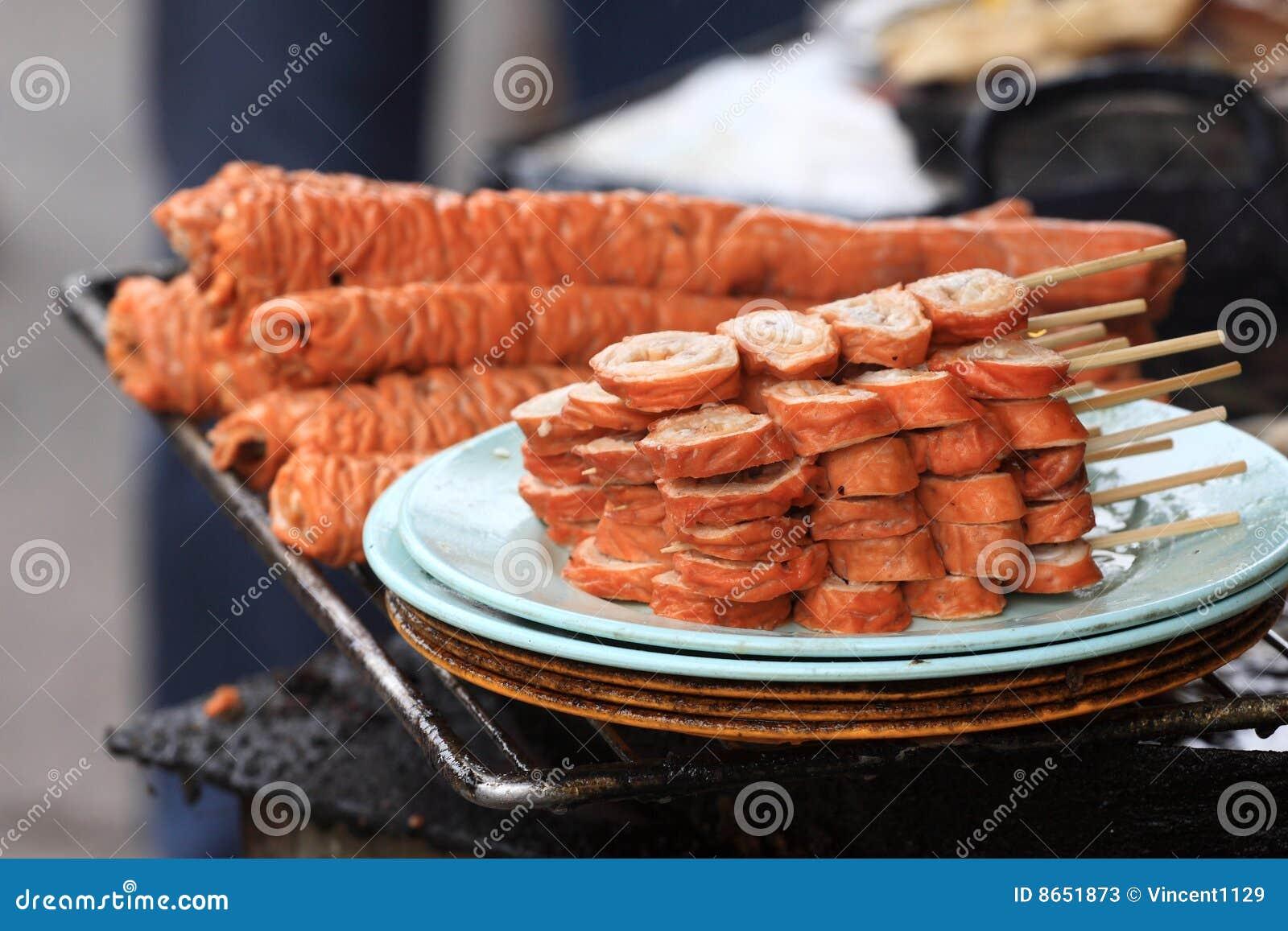 Porc frit d intestin