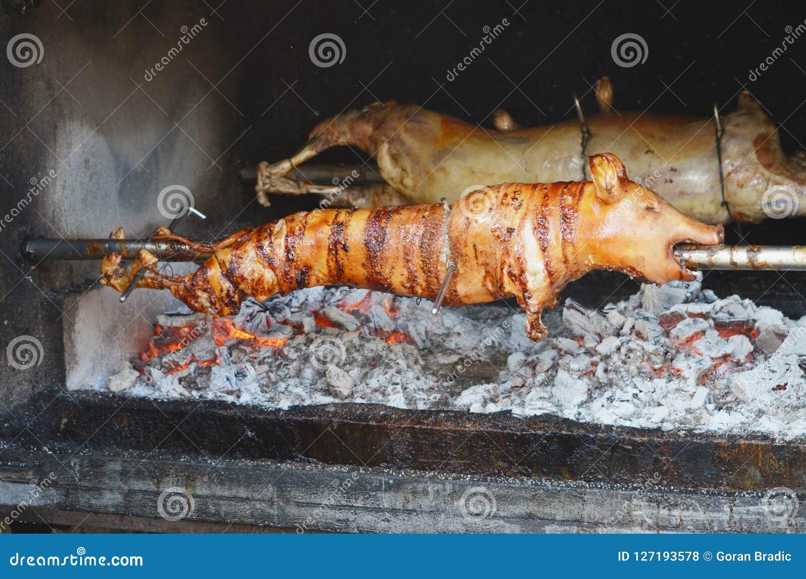 Porc grillé Porc rôti