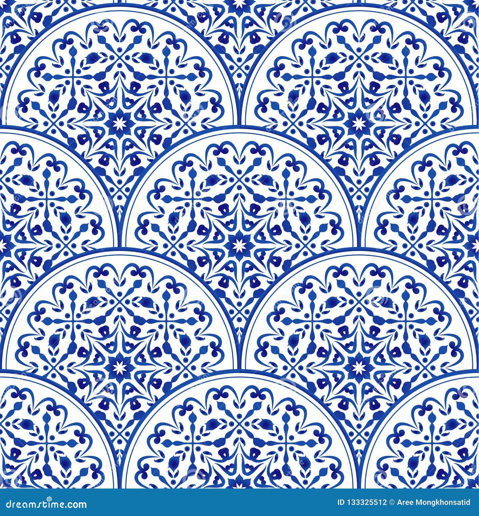 Porcelain Blue Pattern Stock Vector Illustration Of Backdrop 133325512