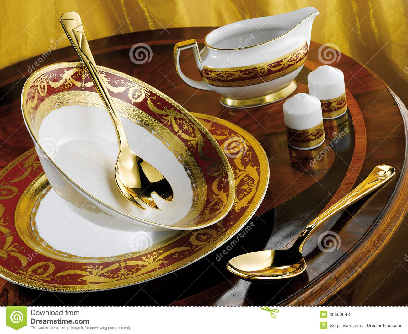 Porcelain Dinner Set Stock Photo Image 39500943