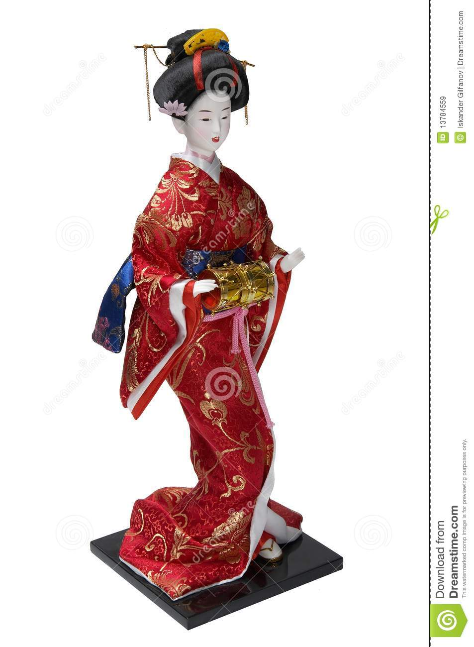 Porcelain Geisha Figurine Royalty Free Stock Images