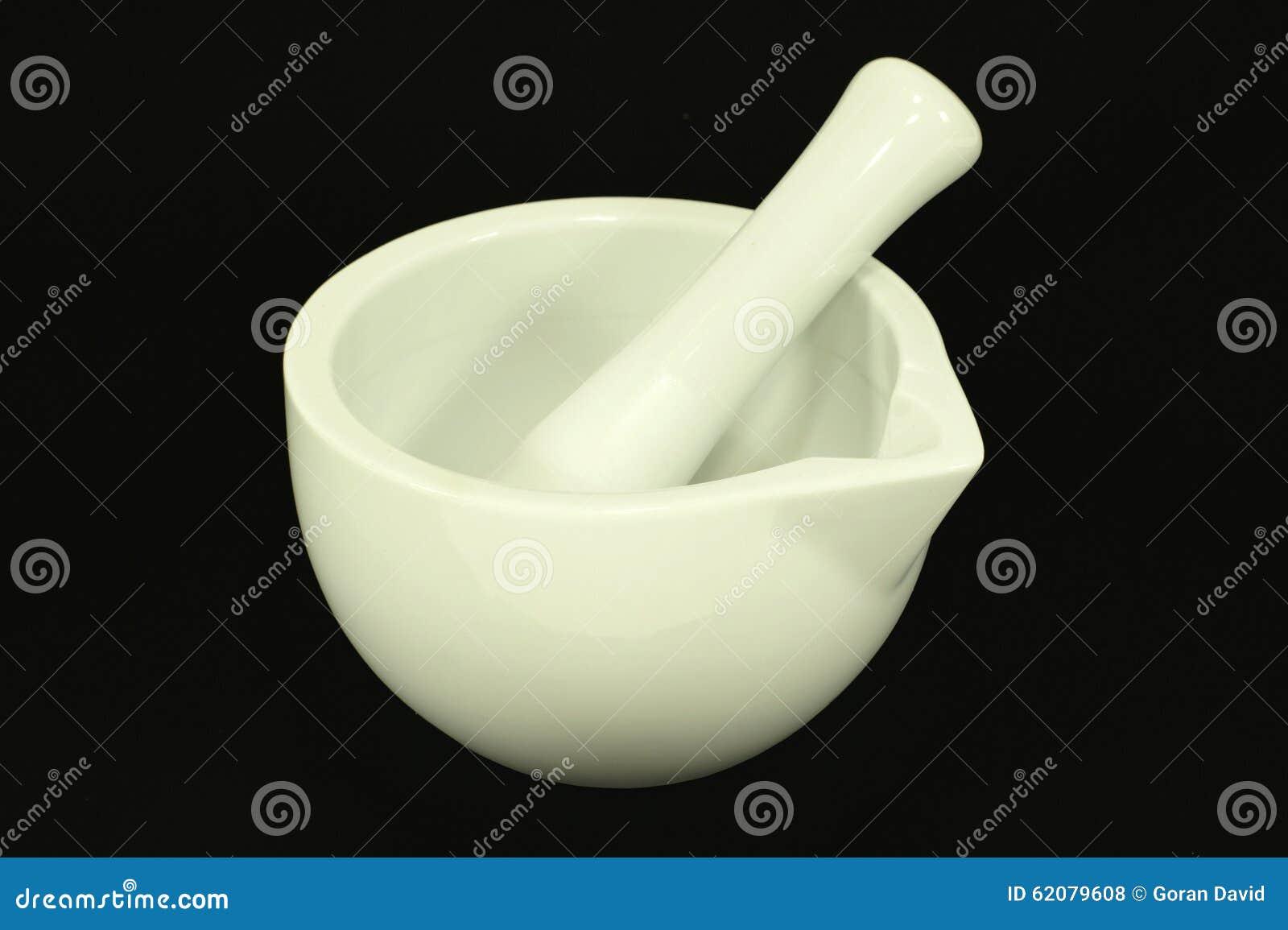 Porcelain Muddler Set With A Jar Stock Photo Image Of White