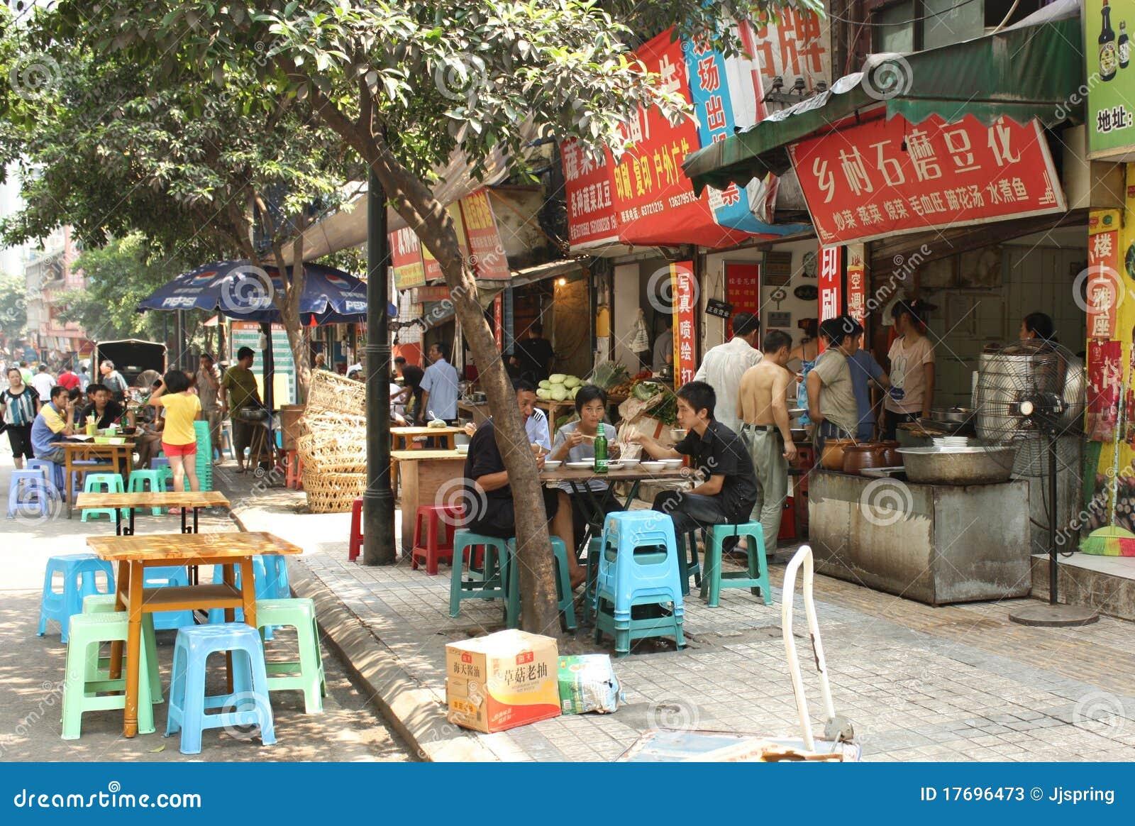 Porcelanowa karmowa ulica