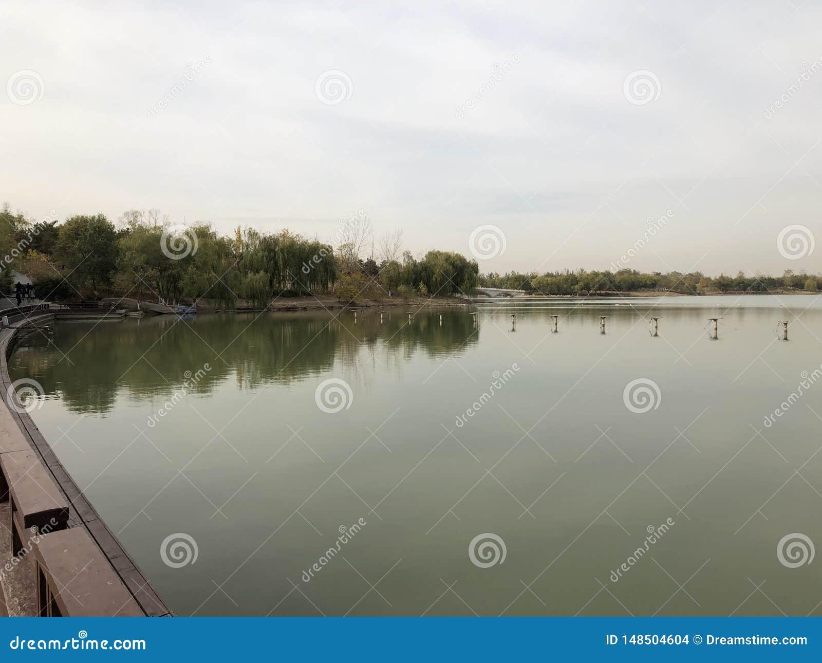 Porcelanowa Pekin Nanhaizi Parkowa pi?kna sceneria