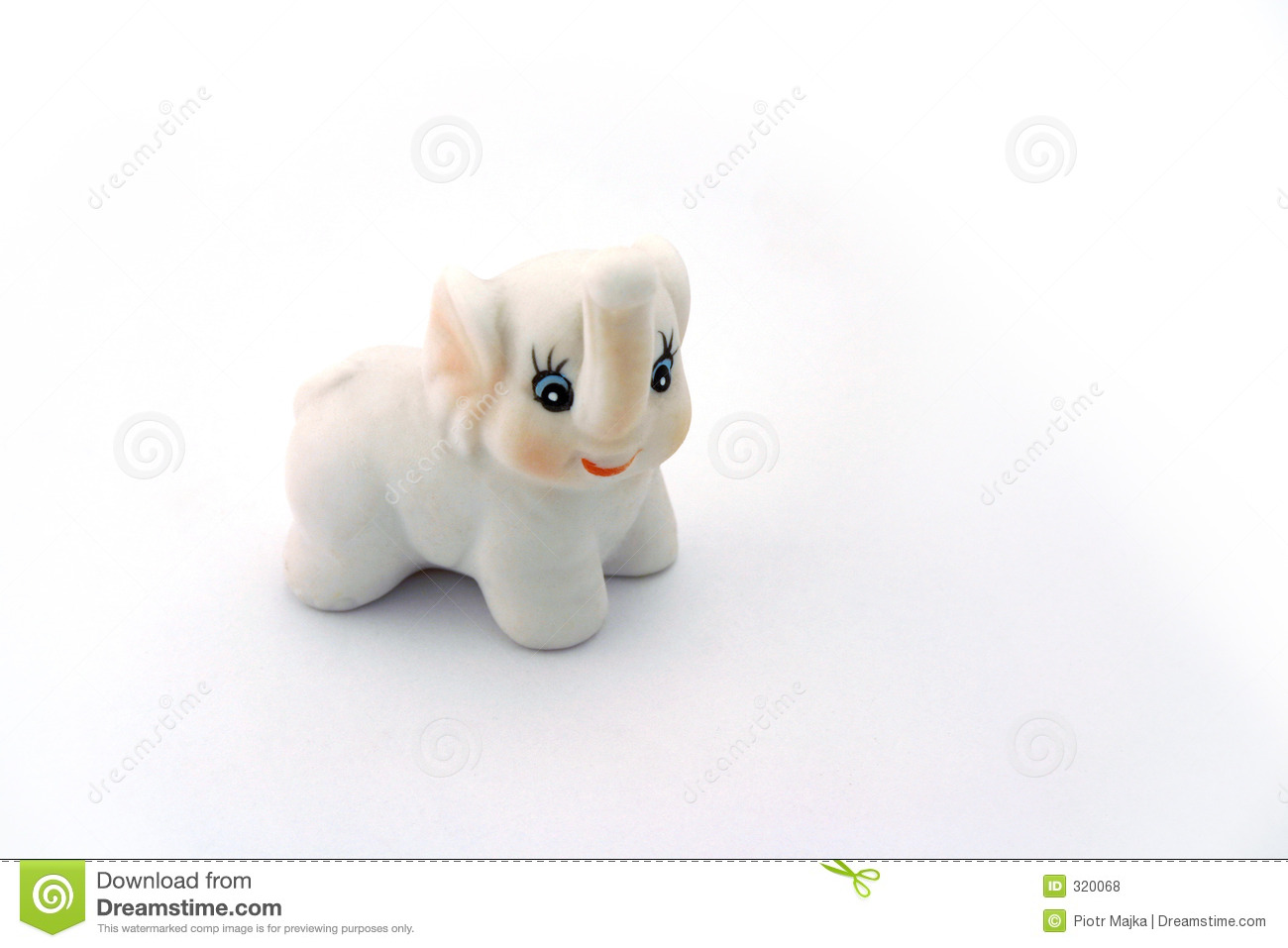 Porcelanowa white elephant