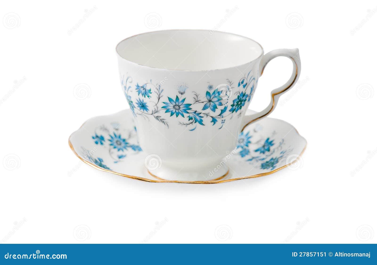 Porcelanowej porcelany herbaciana filiżanka - kwiatu projekt