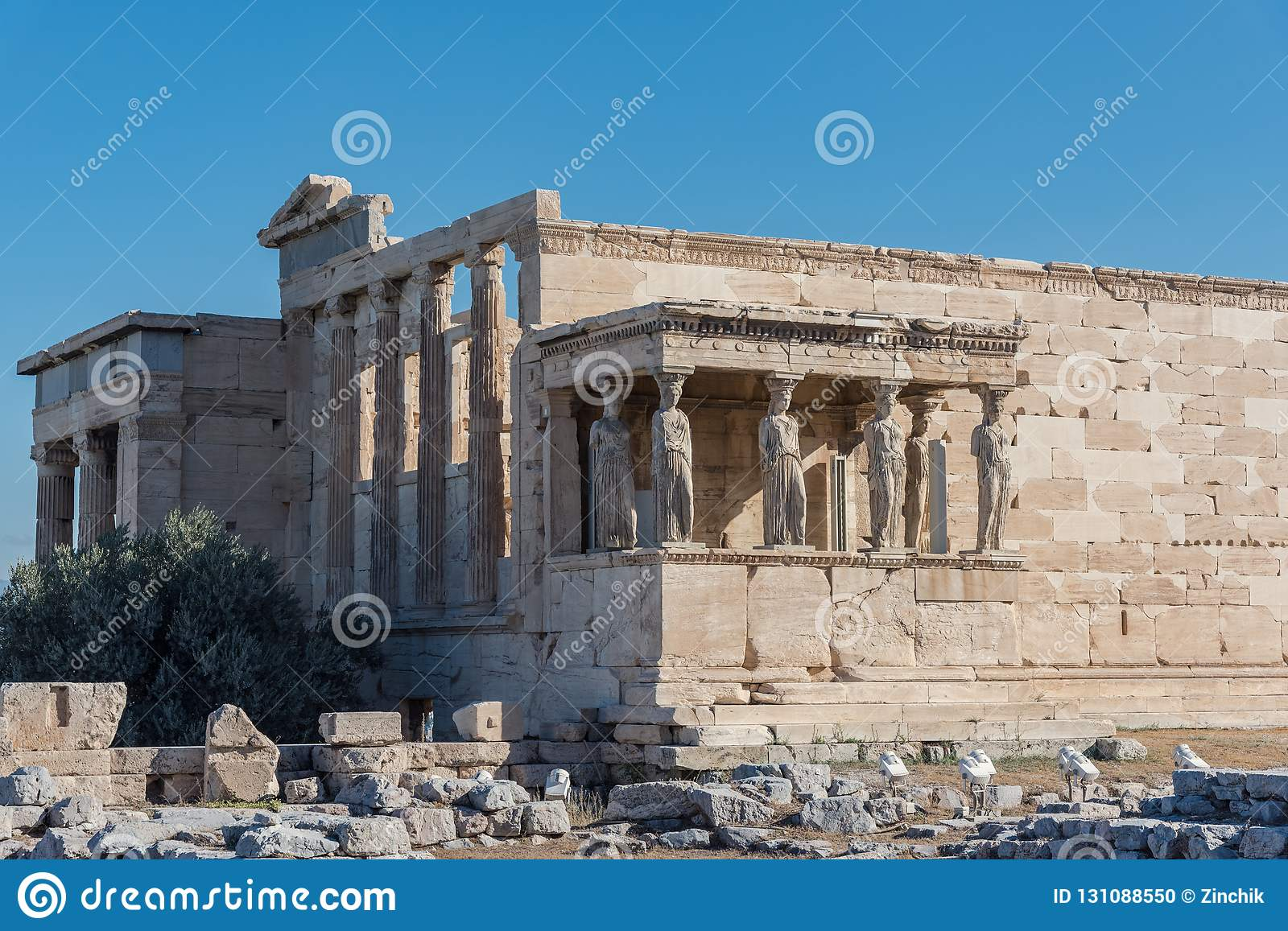The Porch of the Caryatids in The Erechtheion an ancient Greek t