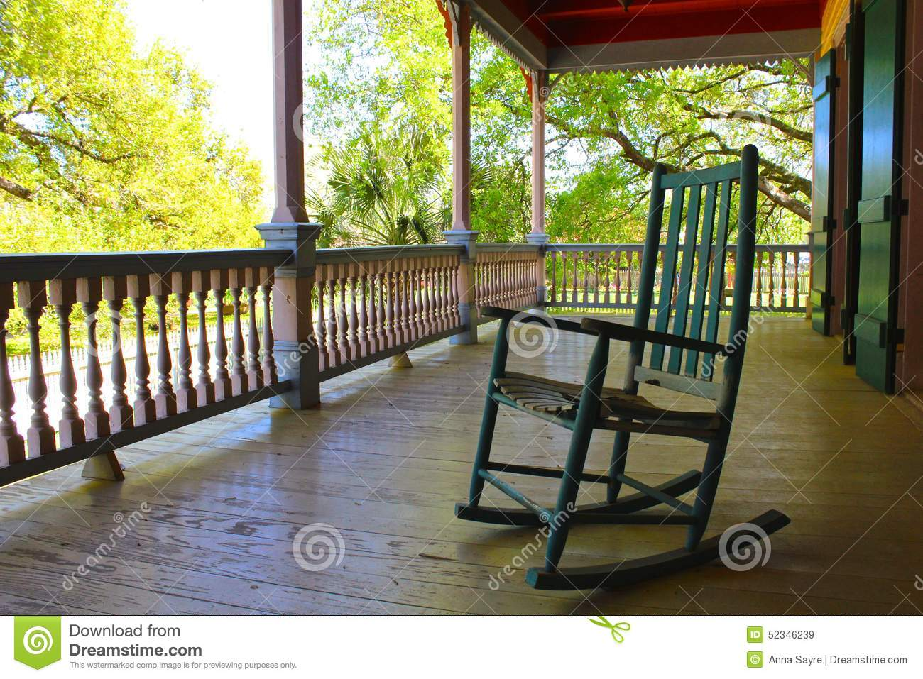 Porch Chair Stock Photo Image 52346239