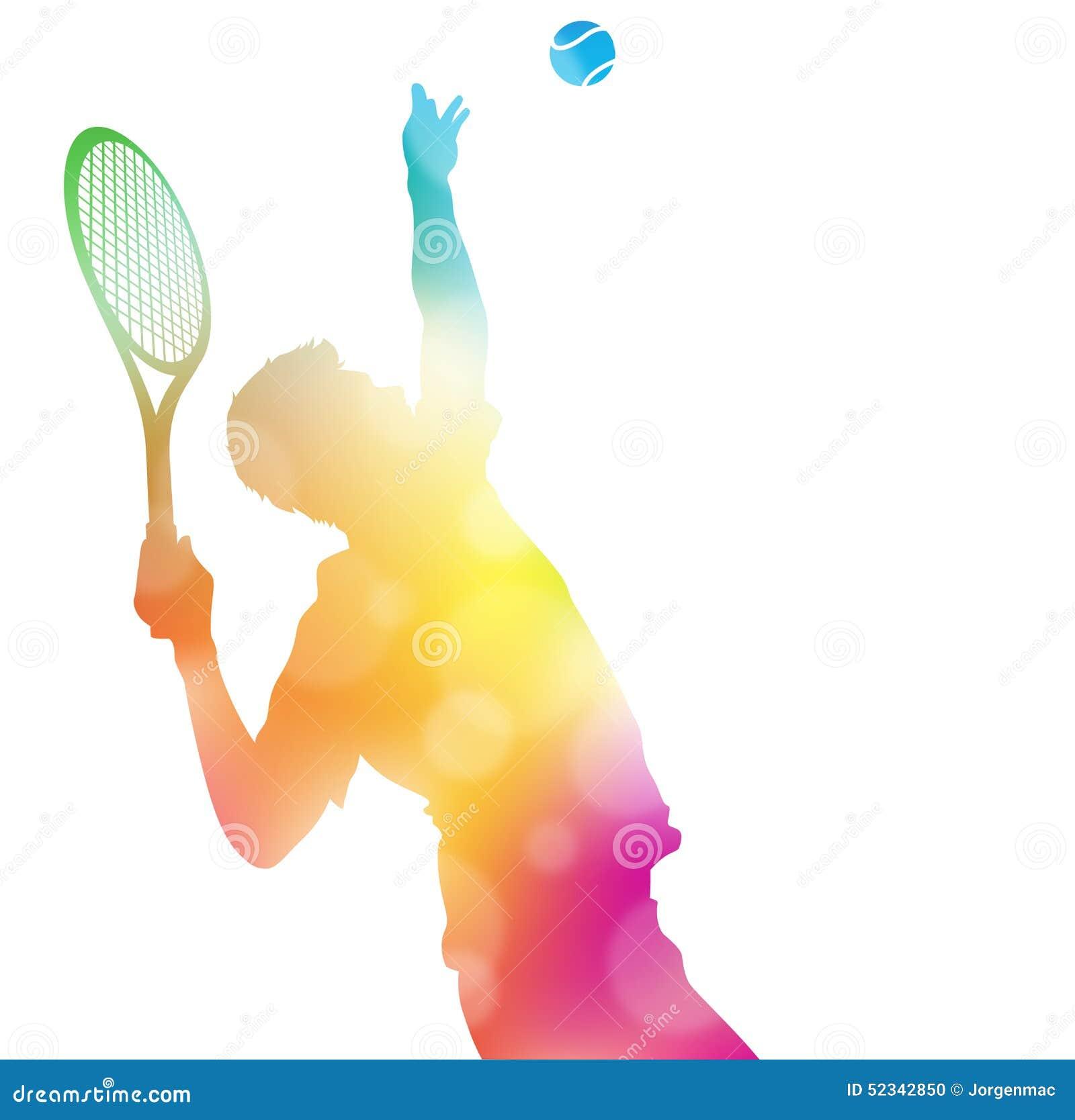 0edb81af16 El ejemplo abstracto colorido de un jugador de tenis que sirve arriba  golpear Ace en este campeonato hace juego a través de una neblina de las  faltas de ...