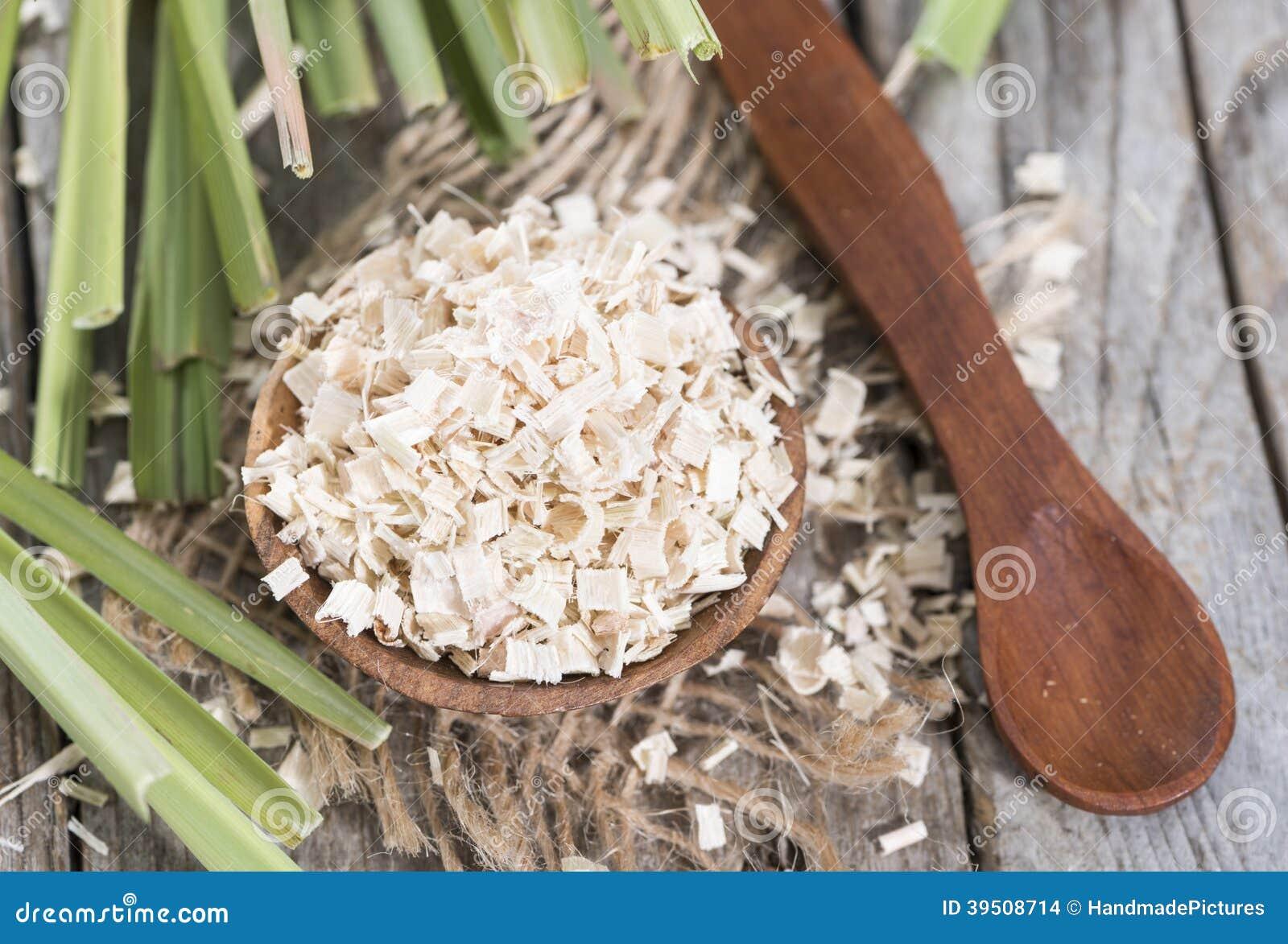 Porción de hierba de limón secada
