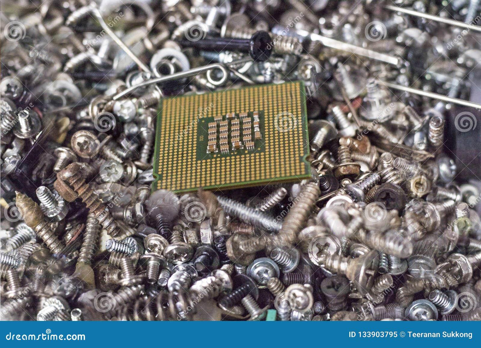Porción de juntas del tornillo Viene con la CPU el proceso del dispositivo