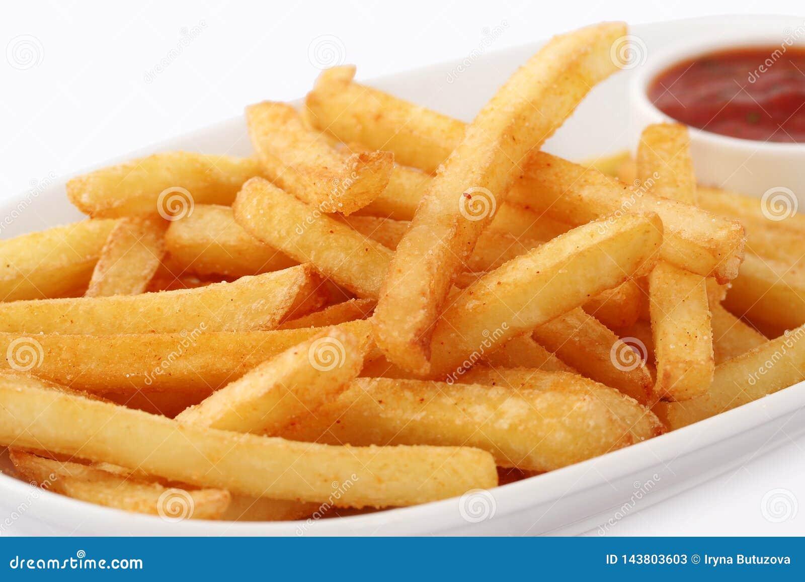 Porci?n de patatas fritas reci?n hechas