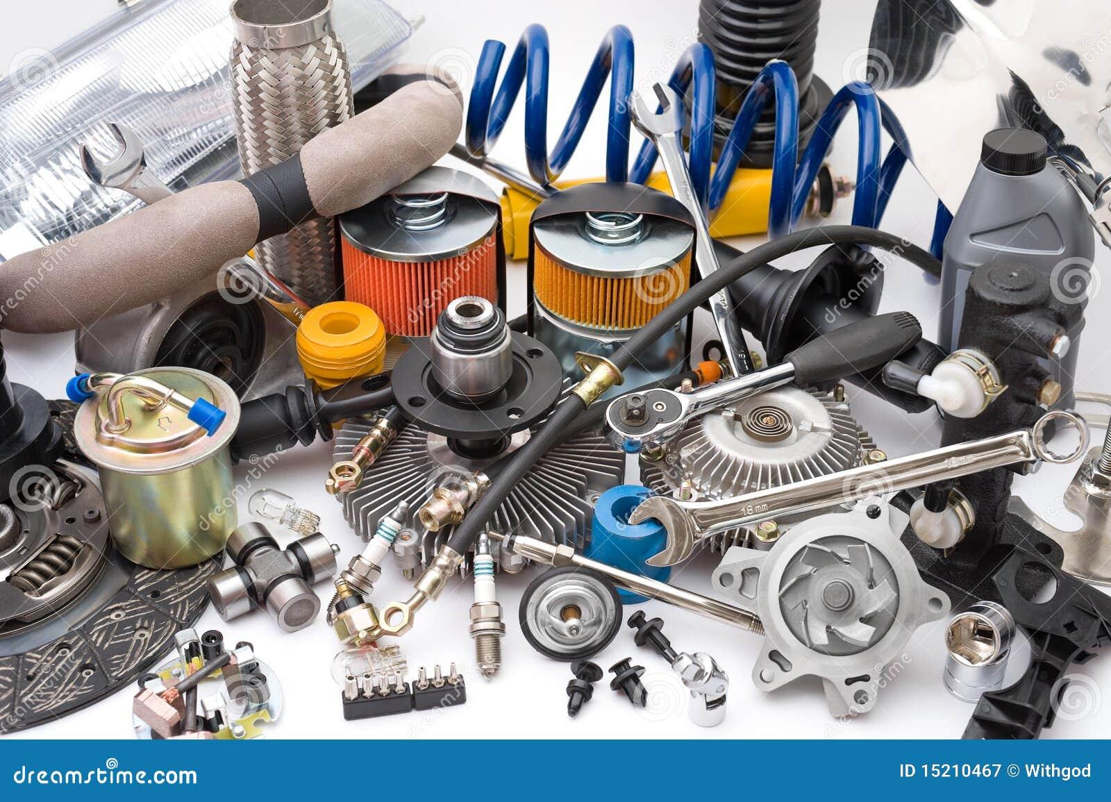 Porciones de piezas de automóvil