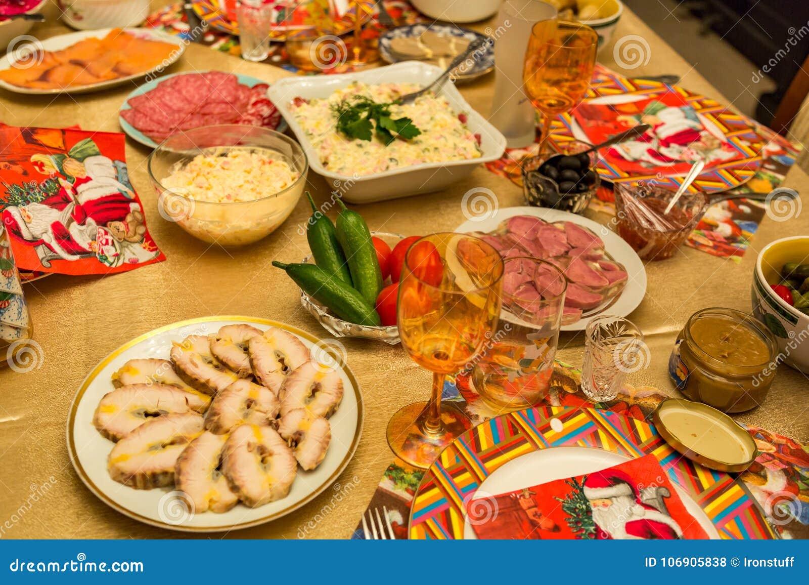 Porcja świąteczny stół