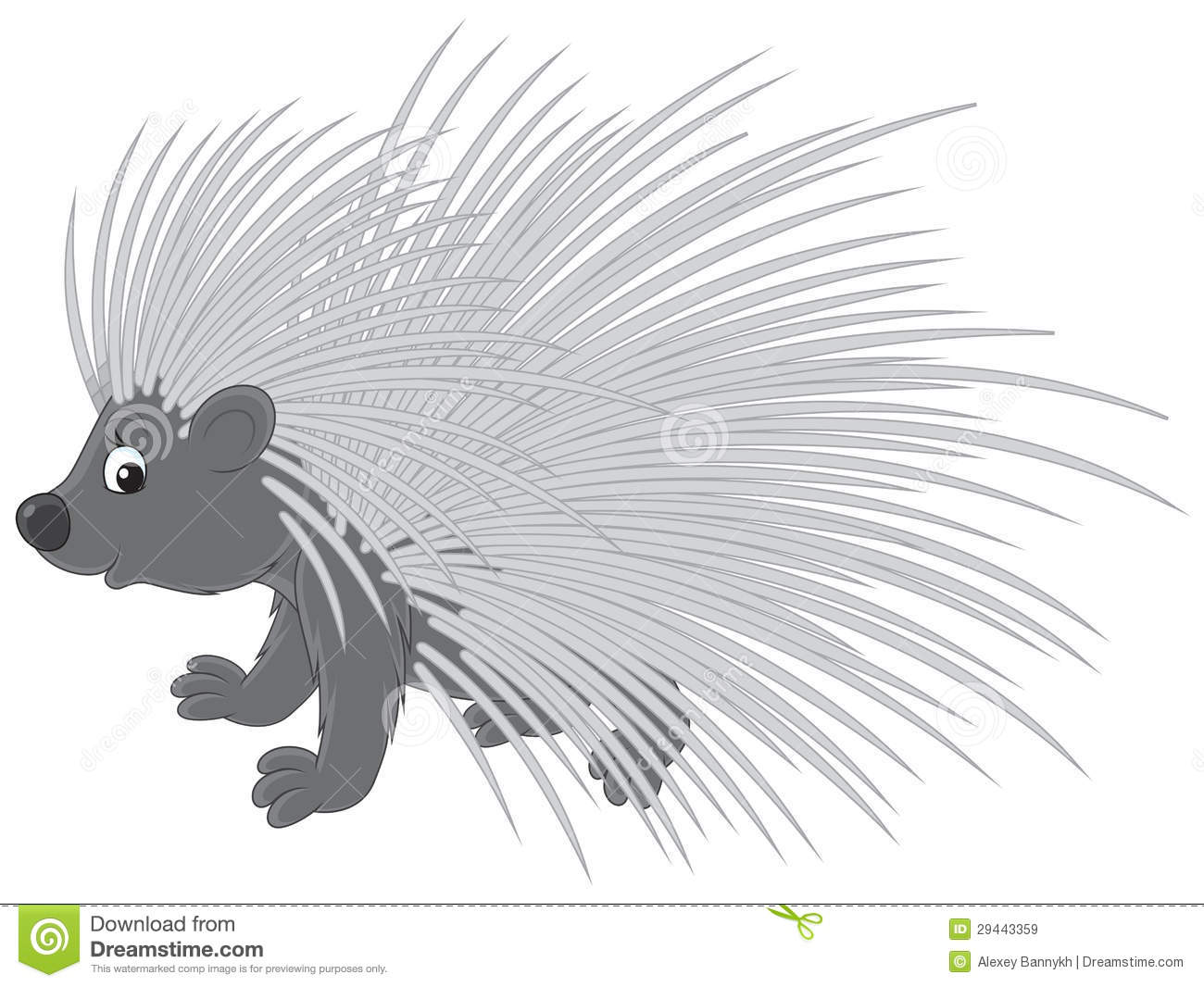 Porcupine Stock Vector Image Of Toon Wild Natural