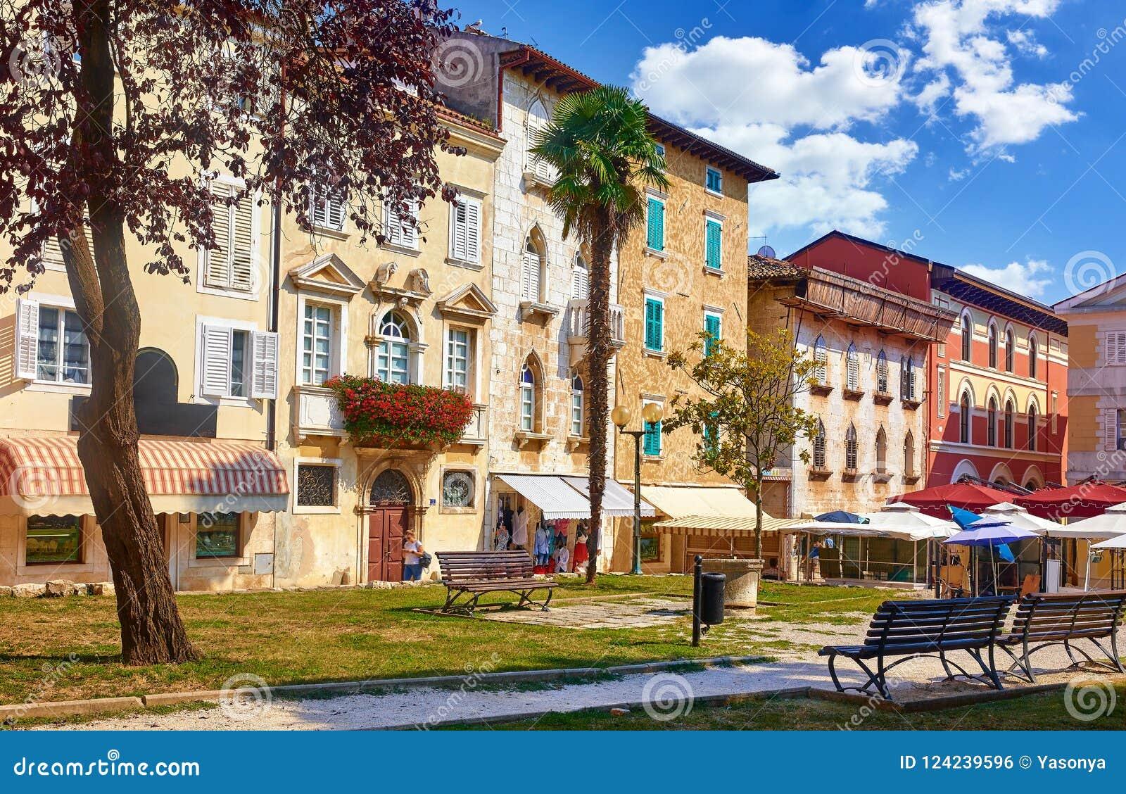 Porec, Kroatien Antike Häuser in der alten Stadt