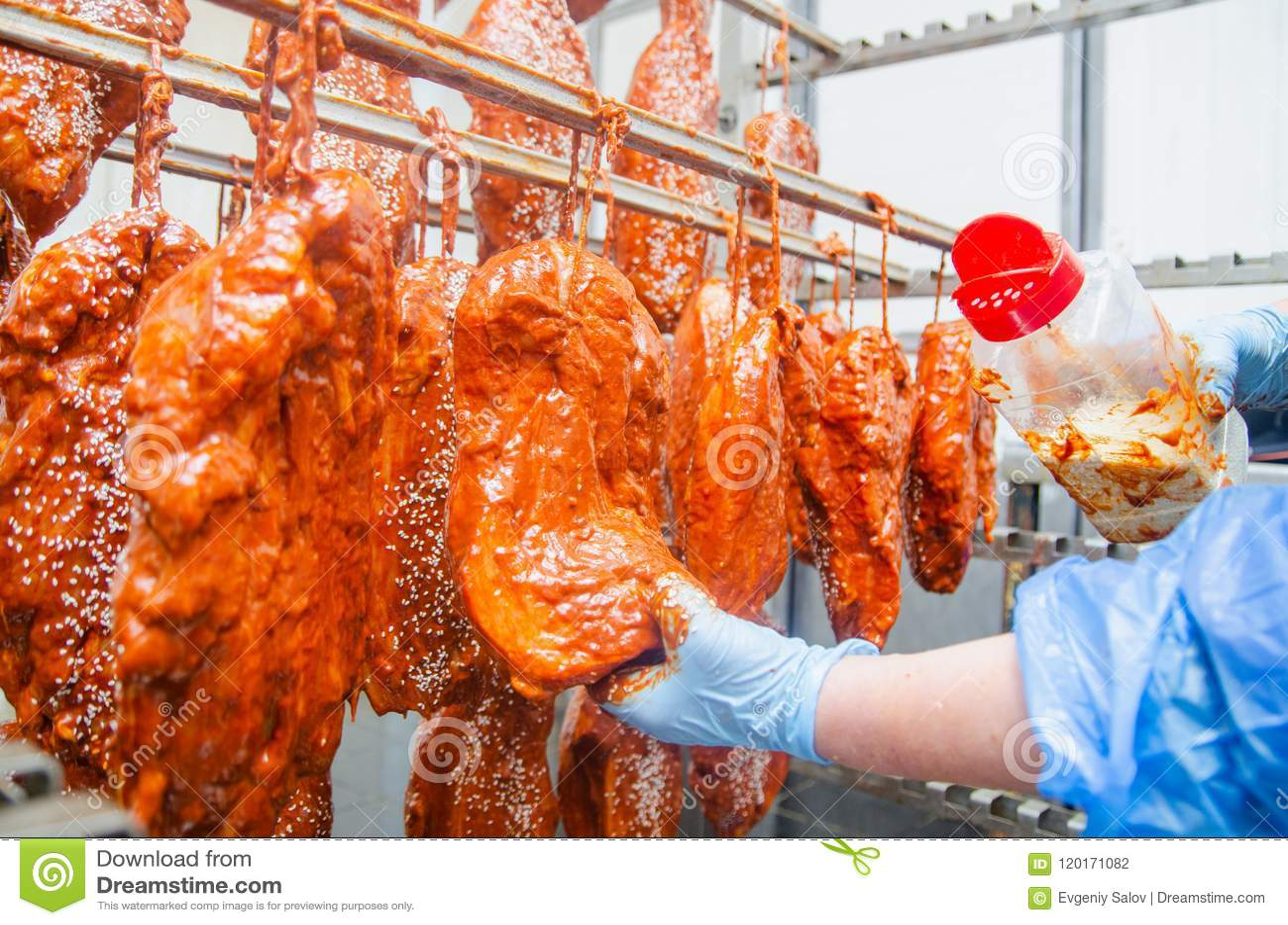 Pork Η γραμμή για την παραγωγή των καπνισμένων λιχουδιών industri