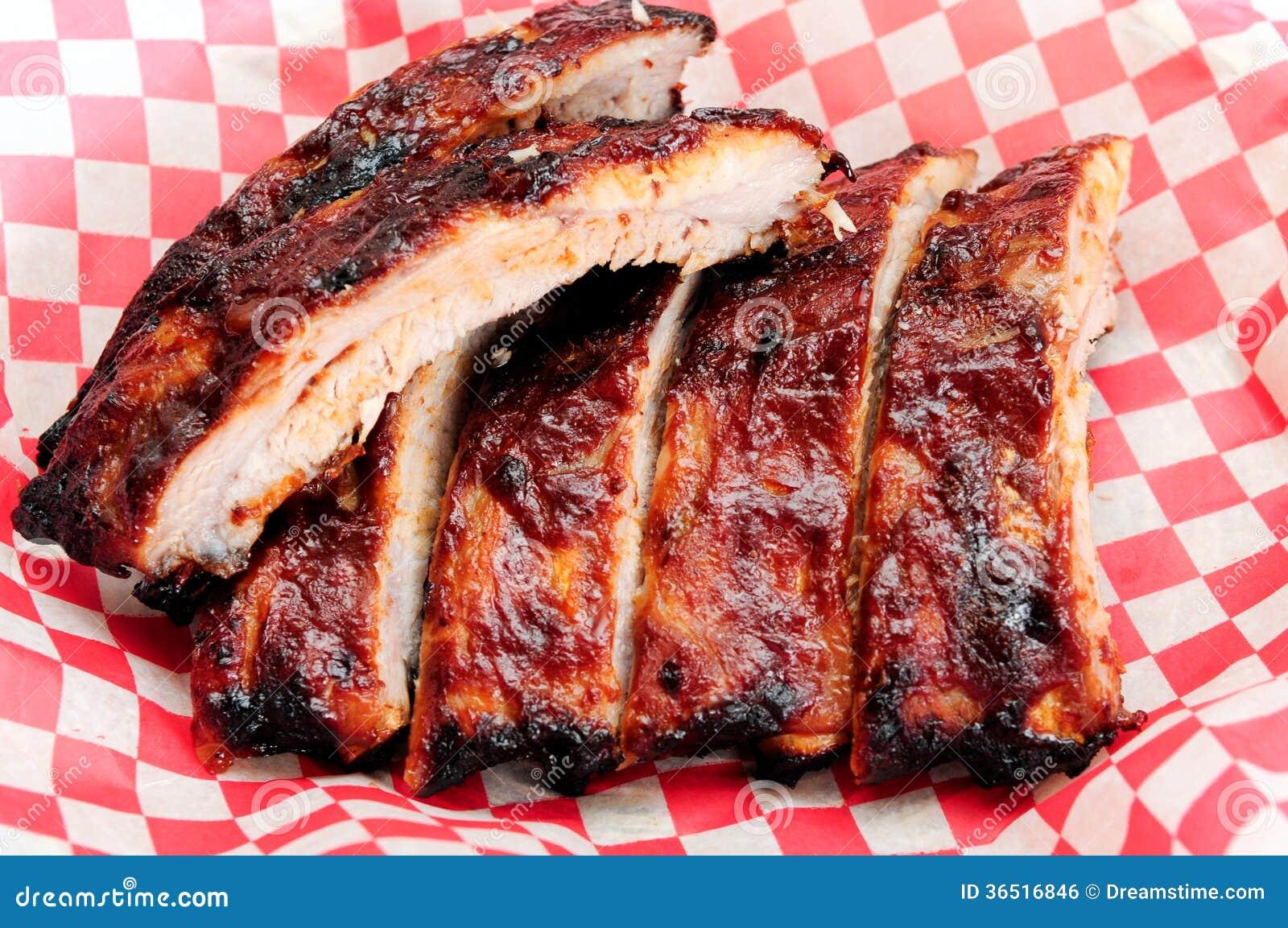 Pork Bbq Ribs Stock Photo Image Of Pork Calories Aroma