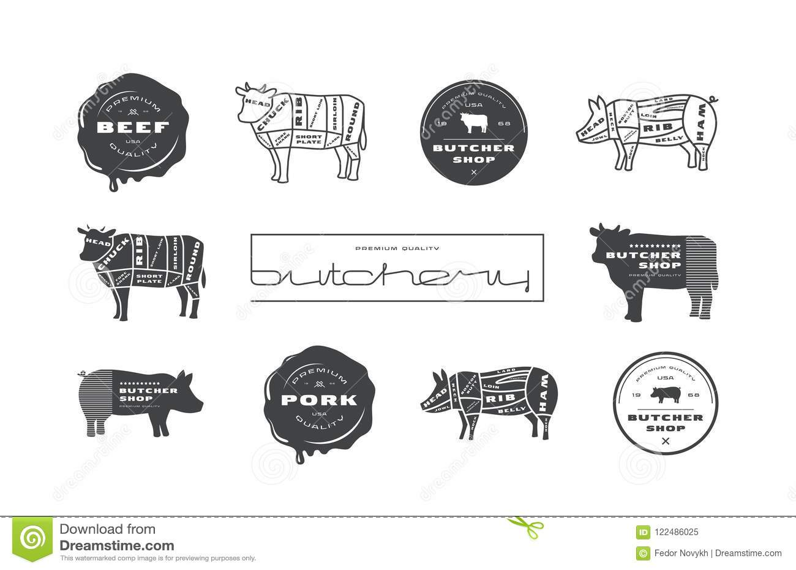 pork beef cuts diagrams labels stamps butcher shop stock vector pork beef cuts diagrams labels stamps butcher shop 122486025 pork, beef cuts diagrams, labels and stamps for butcher shop stock