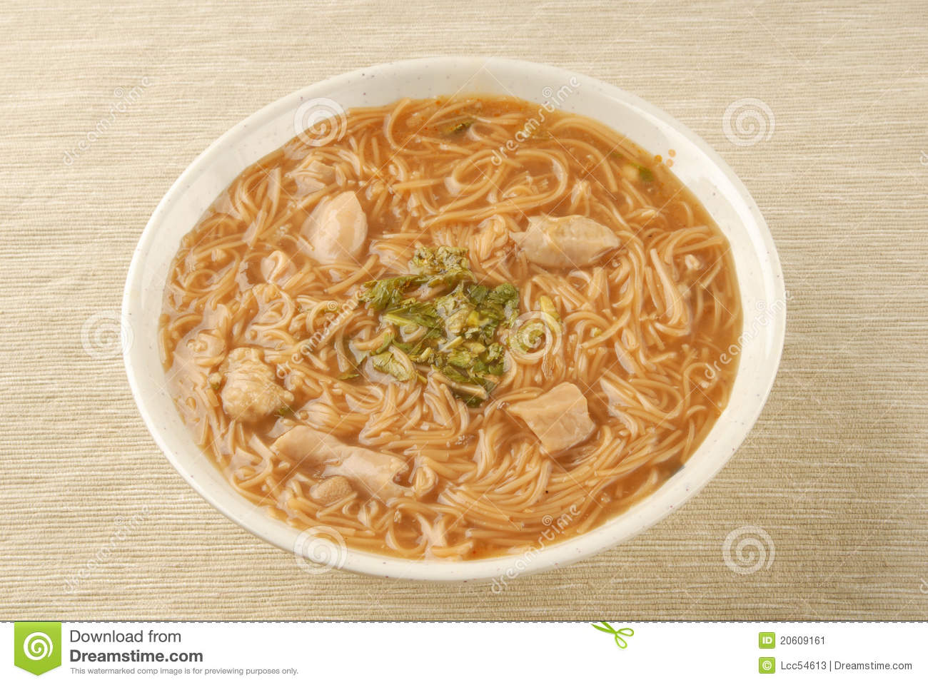 Famous Food Intestine Noodles Pork Taiwan Thin