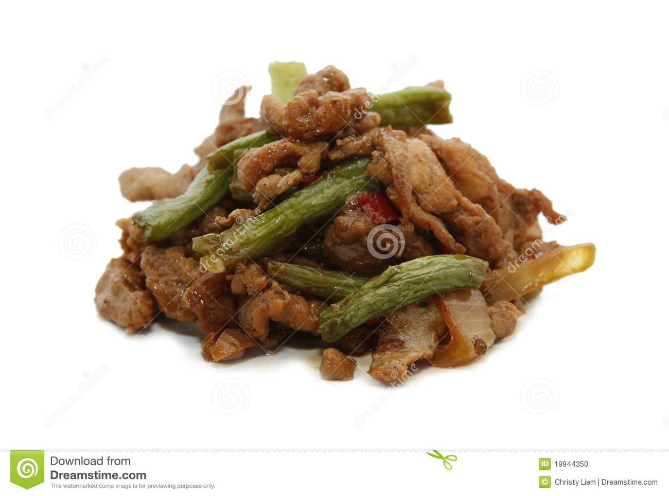 Pork Meat With Bean Stock Photo - Image: 19944350