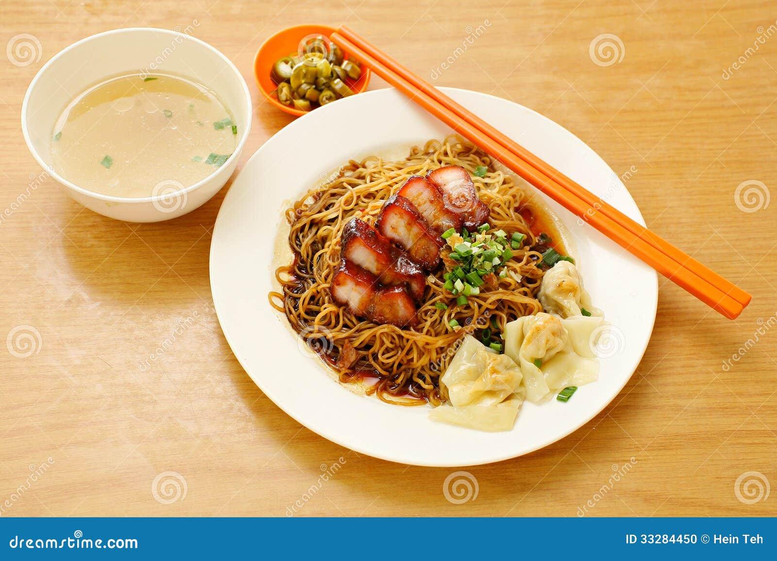 Pork noodle. BBQ pork noodle