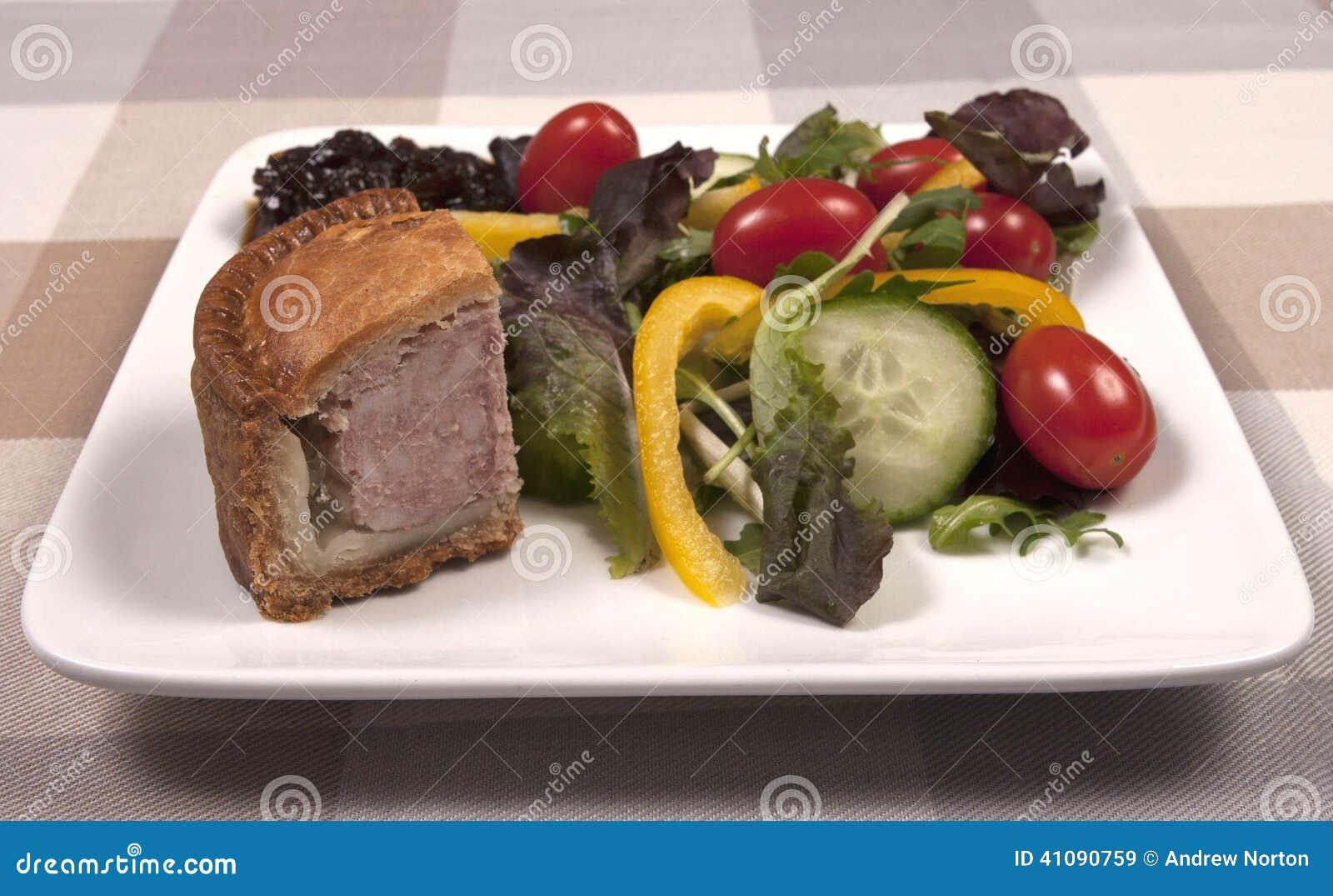 Pork Pie Salad Royalty Free Stock Photography
