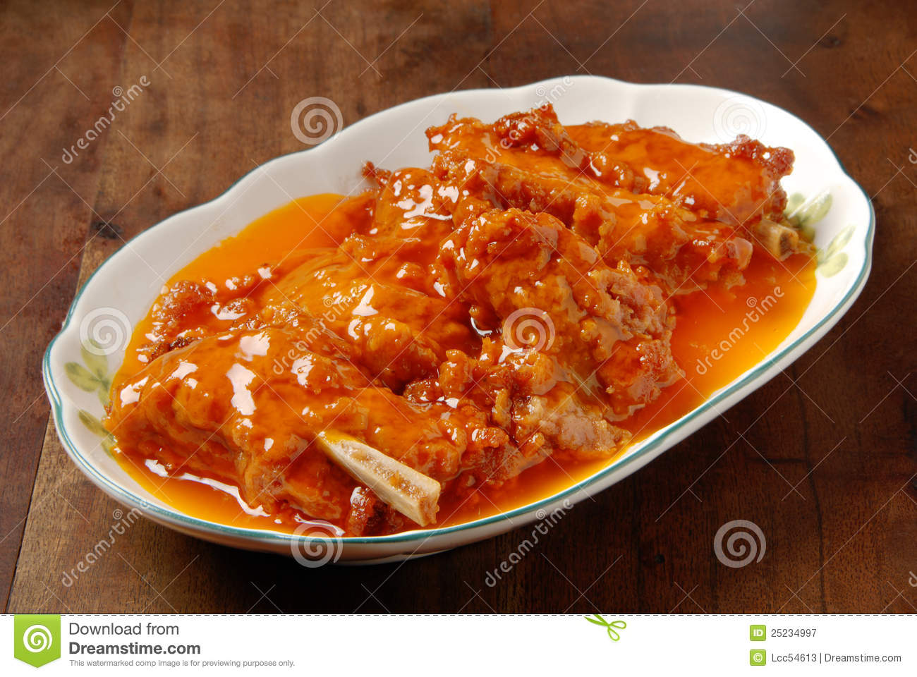 Pork Ribs With Orange Sauce Royalty Free Stock Photography - Image ...
