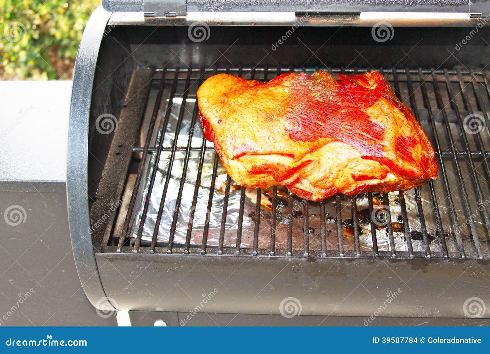 Pork Shoulder on Barbeque