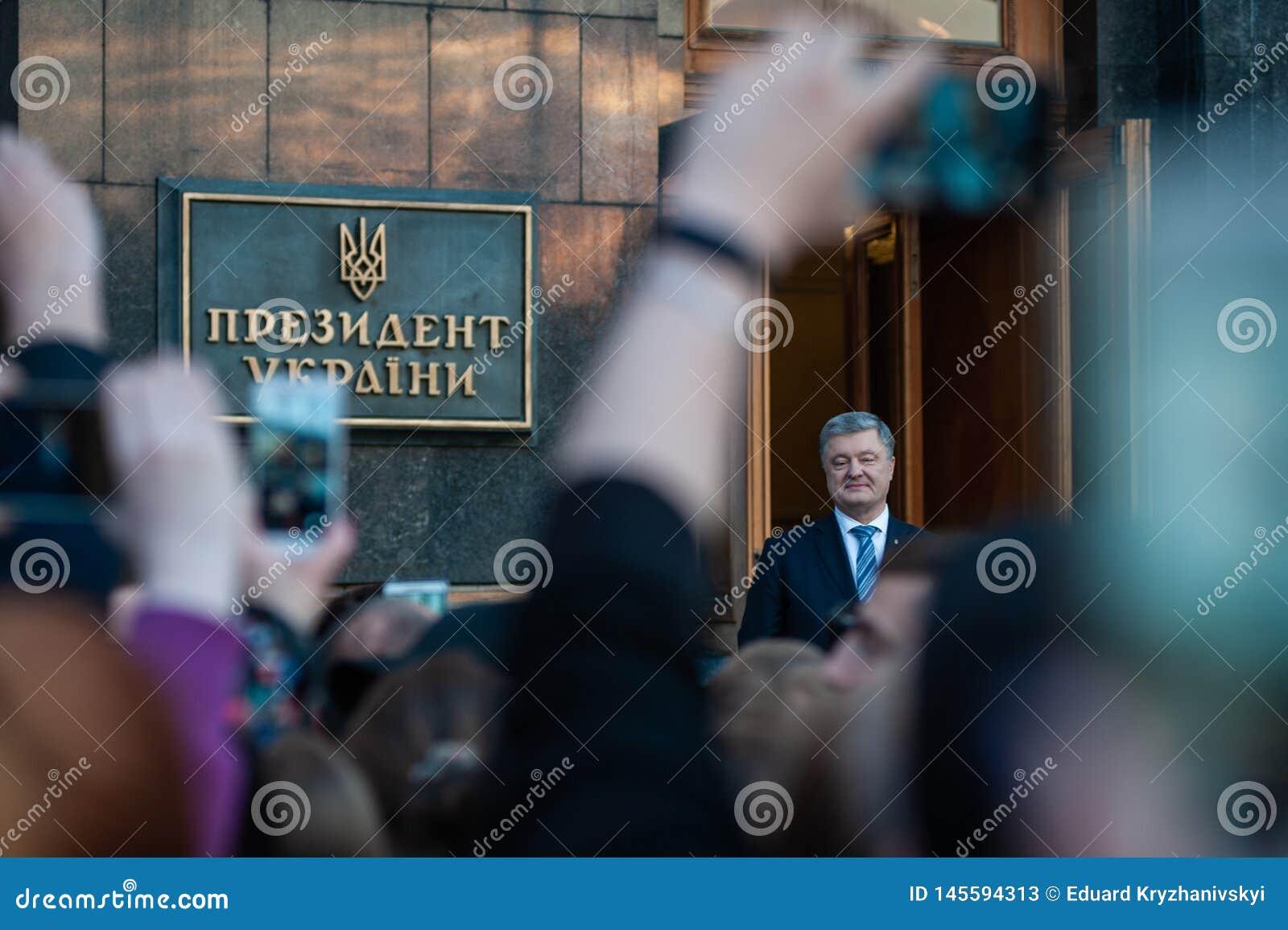 Poroshenko dankte Ukrainern, die kamen, ihm zu danken und ihn zu stützen