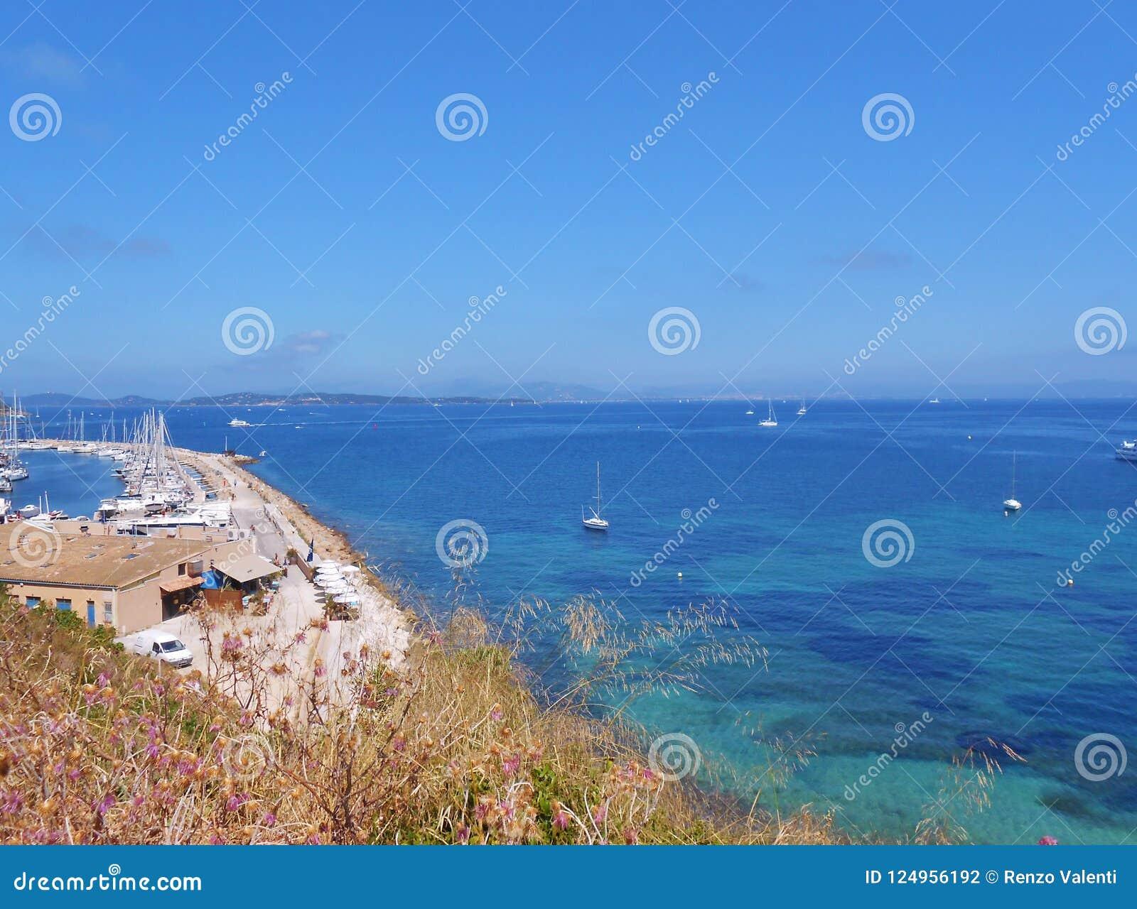 Porquerolles wyspa, Hyeres, Francja