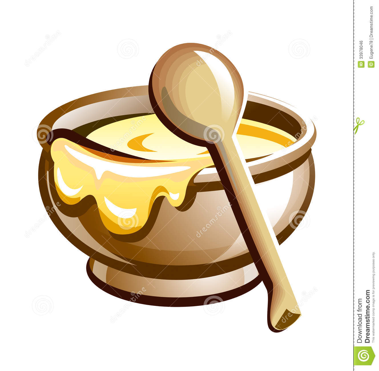 Porridge In The Pot With Wooden Spoon Royalty Free Stock ...