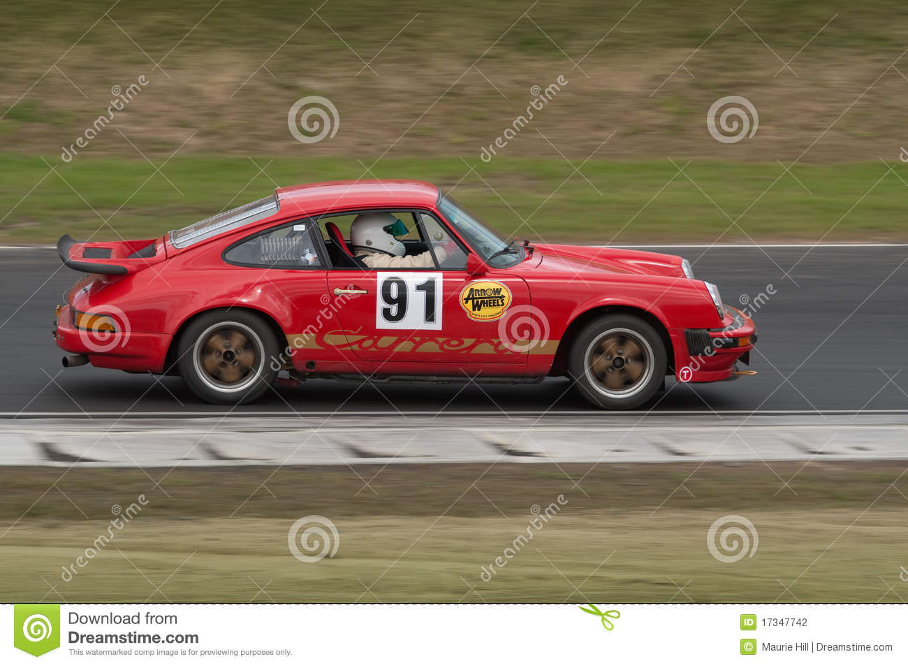 porsche 911 carrera racing car at speed editorial. Black Bedroom Furniture Sets. Home Design Ideas