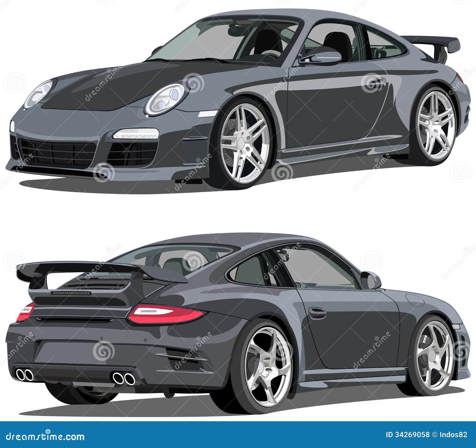 Porsche 911 Carrera Editorial Stock Photo Illustration Of