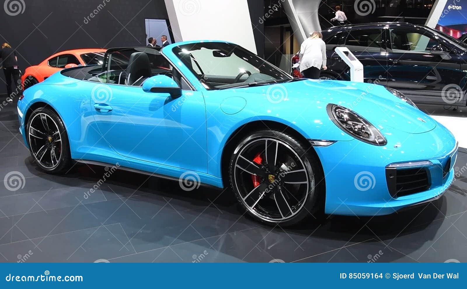 Porsche 911 Carrera 4s Cabriolet Convertible Sports Car Stock Footage Video Of Porsche Convertible 85059164
