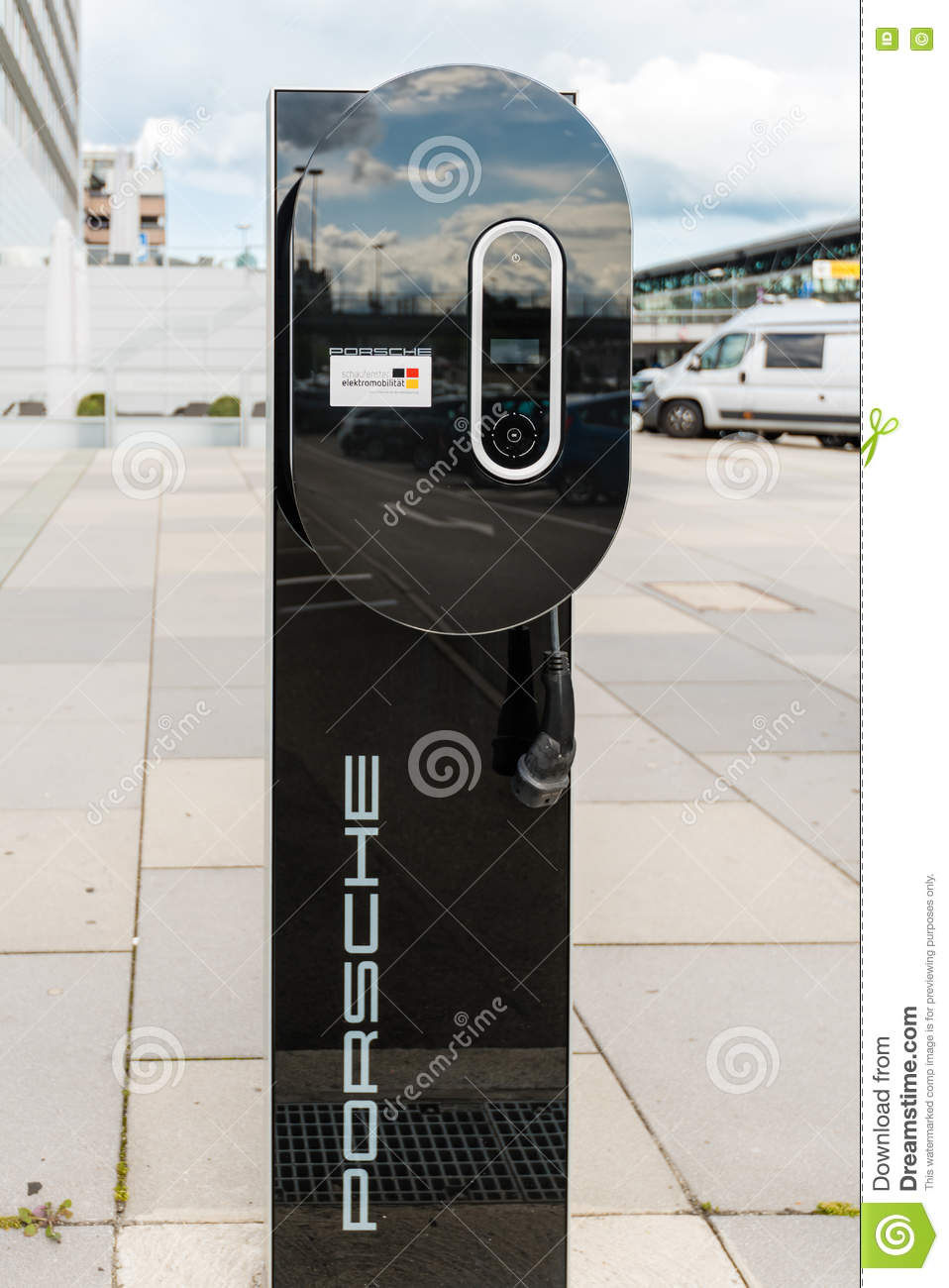 Ev Charging Stations >> Porsche Charging Station For Electric Cars Editorial Stock ...