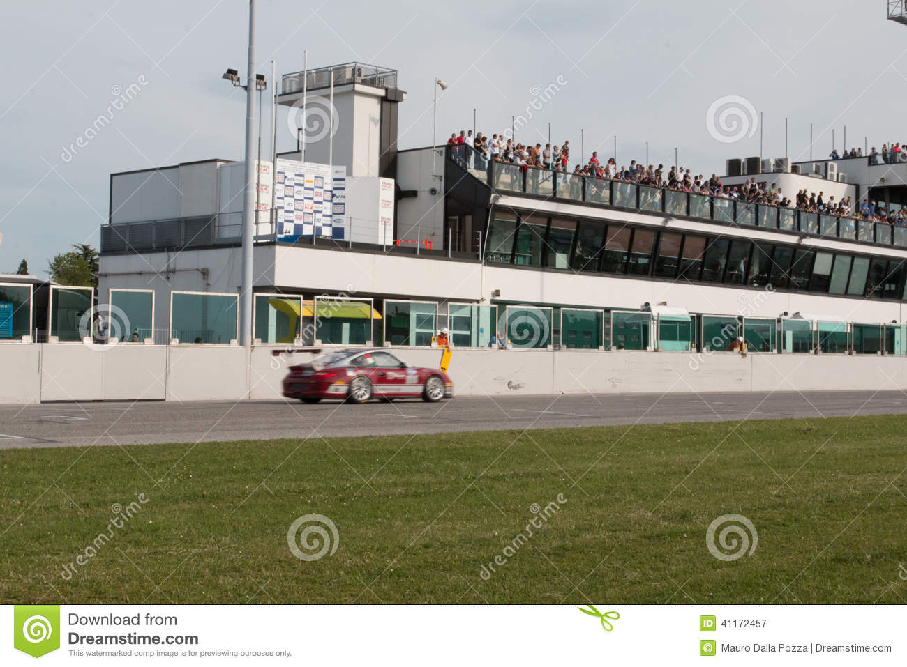 Porsche 997 Cup Gtc Race Car Editorial Image